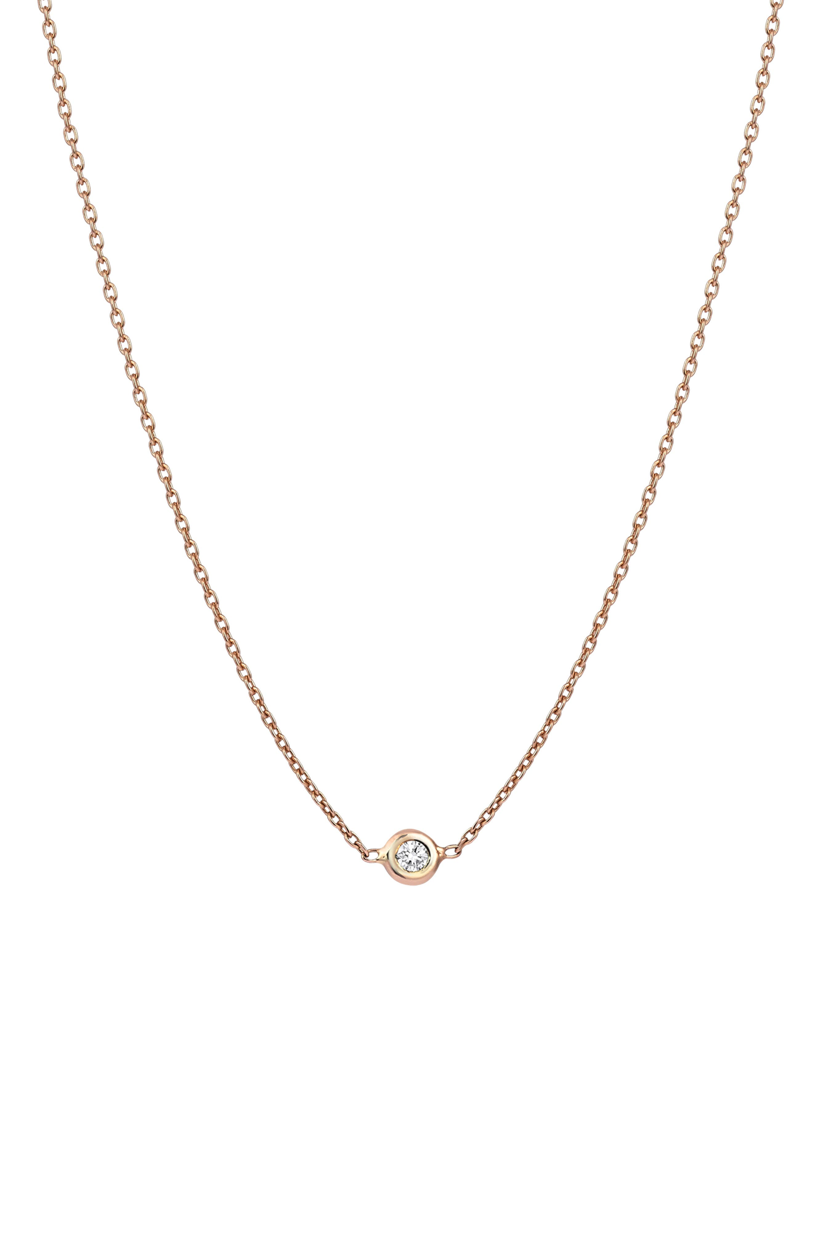 Diamond Choker Necklace,                         Main,                         color, ROSE GOLD
