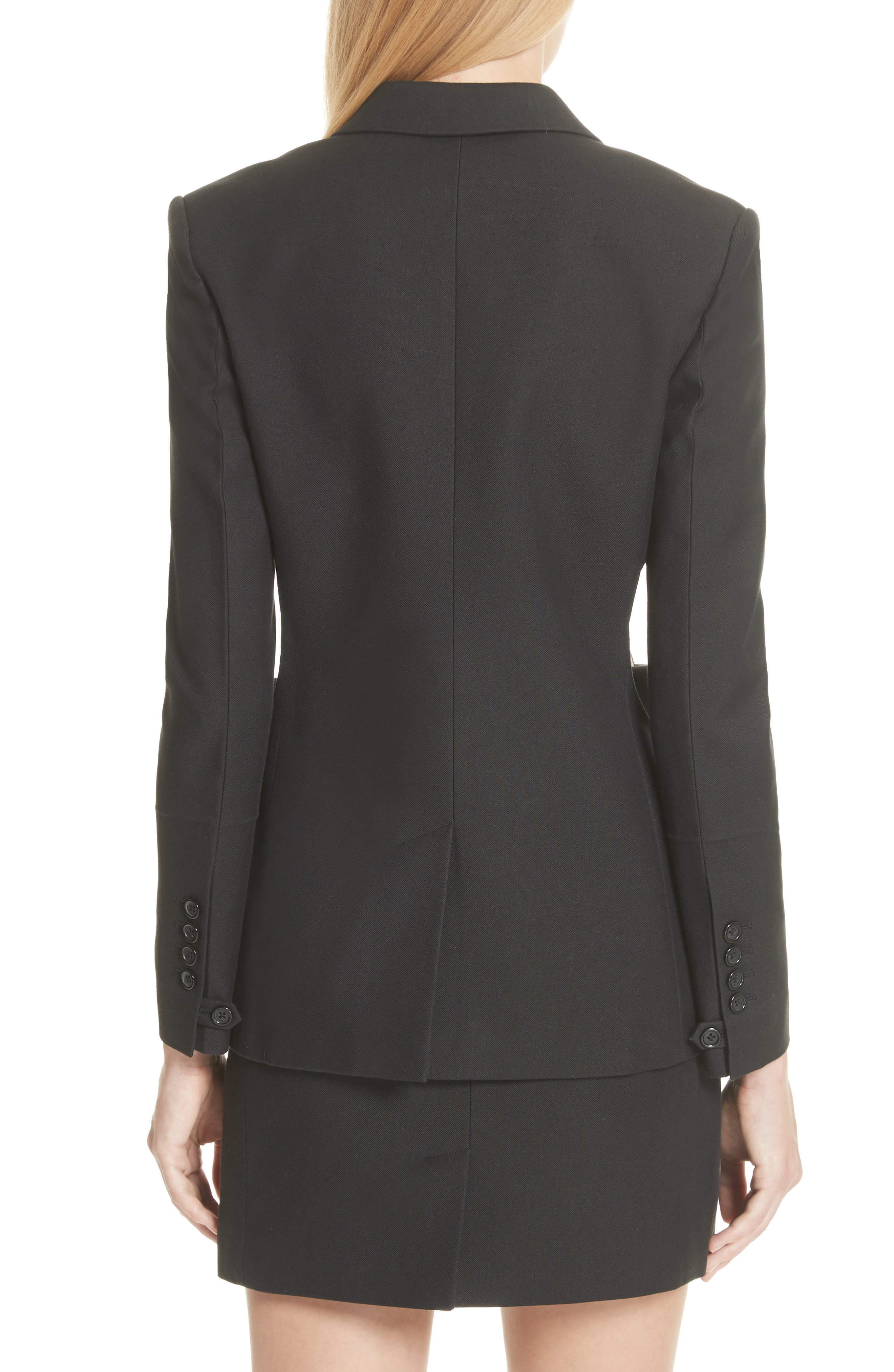 HELMUT LANG,                             Cutout Waist Blazer,                             Alternate thumbnail 2, color,                             001