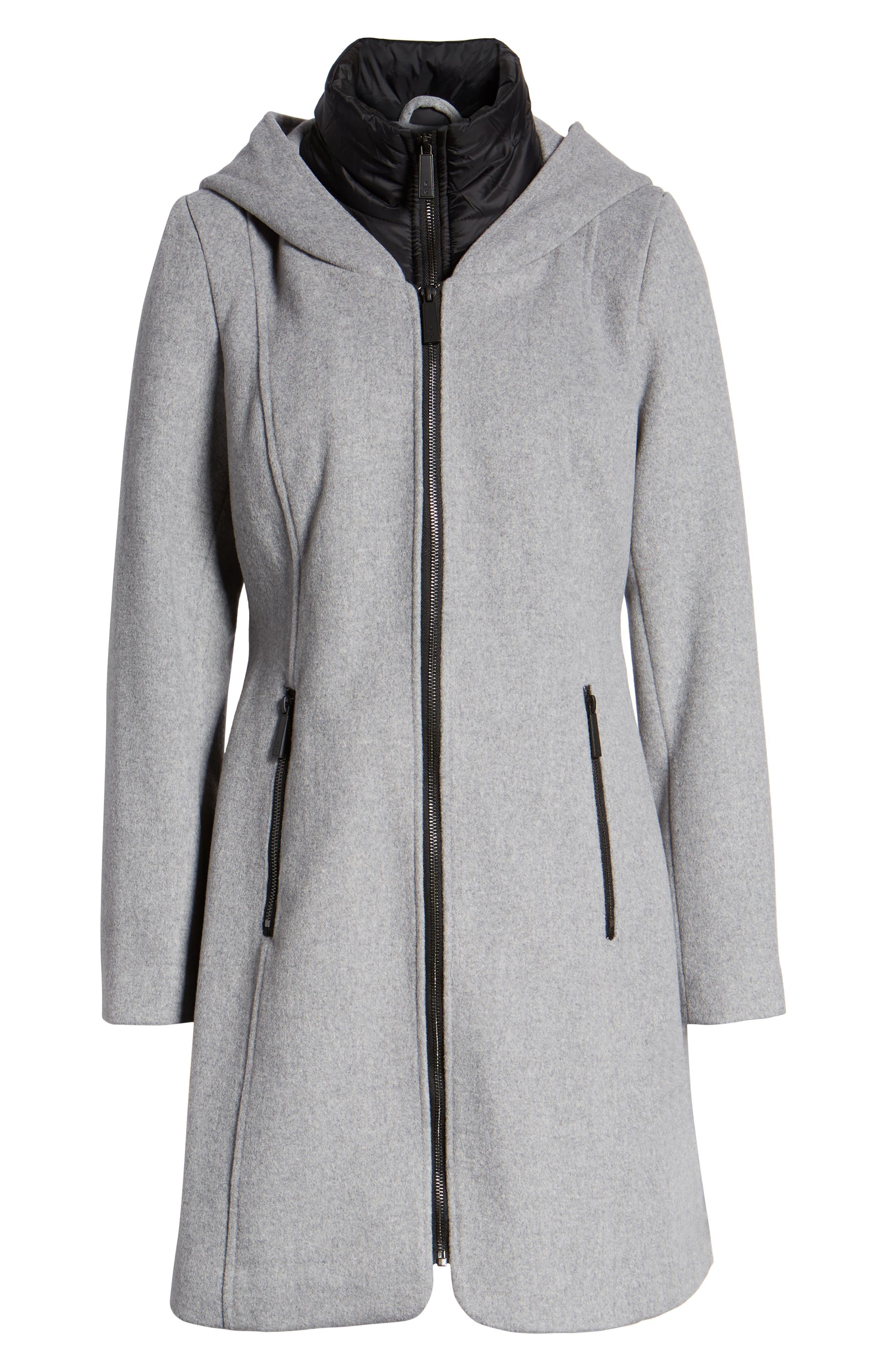 Hooded Twill Coat,                             Alternate thumbnail 6, color,                             033