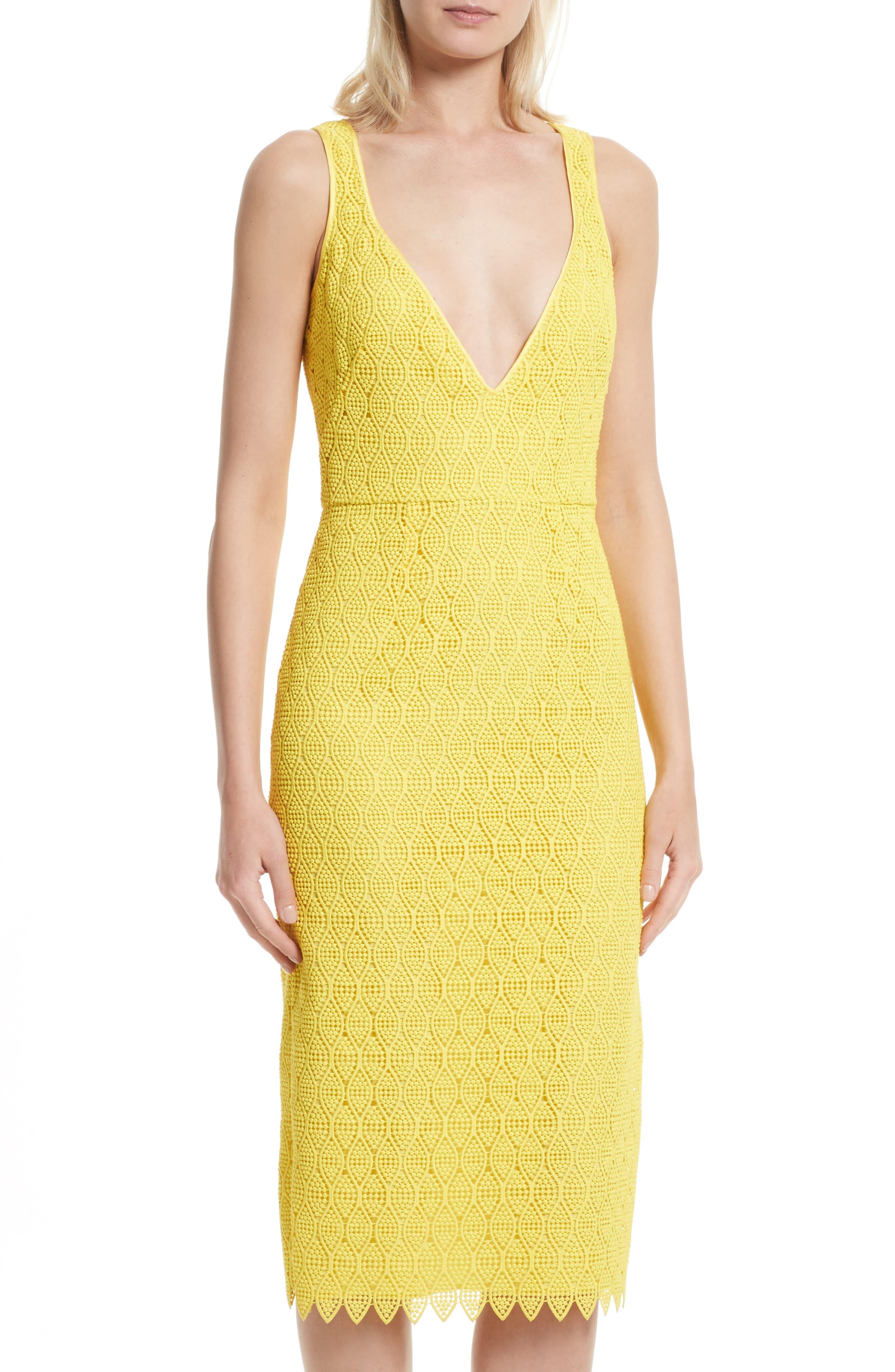 Lace Midi Sheath Dress,                             Alternate thumbnail 4, color,                             732