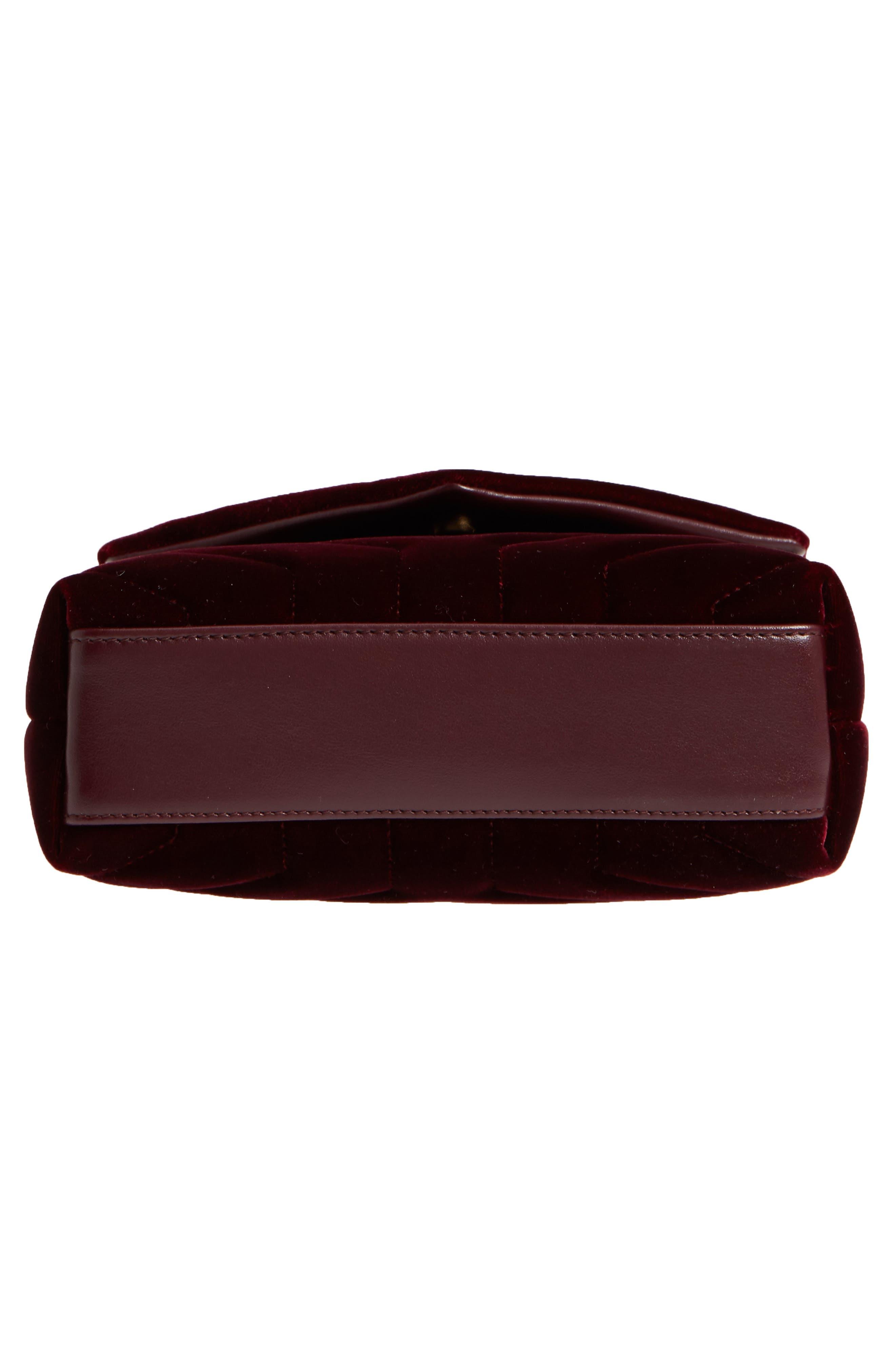 SAINT LAURENT,                             Toy Loulou Velvet Crossbody Bag,                             Alternate thumbnail 6, color,                             930