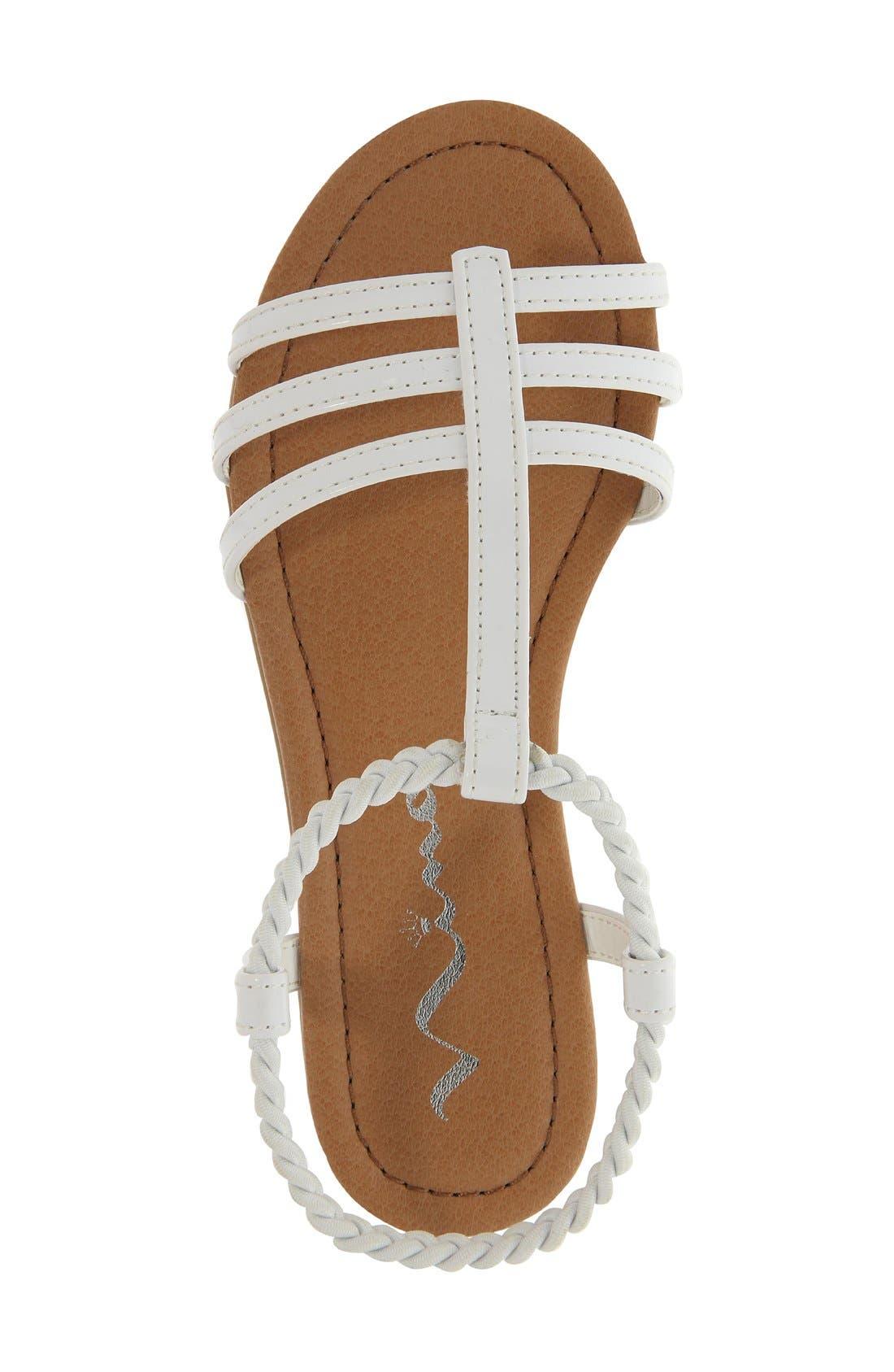 'Melvie' Sandal,                             Alternate thumbnail 4, color,                             WHITE