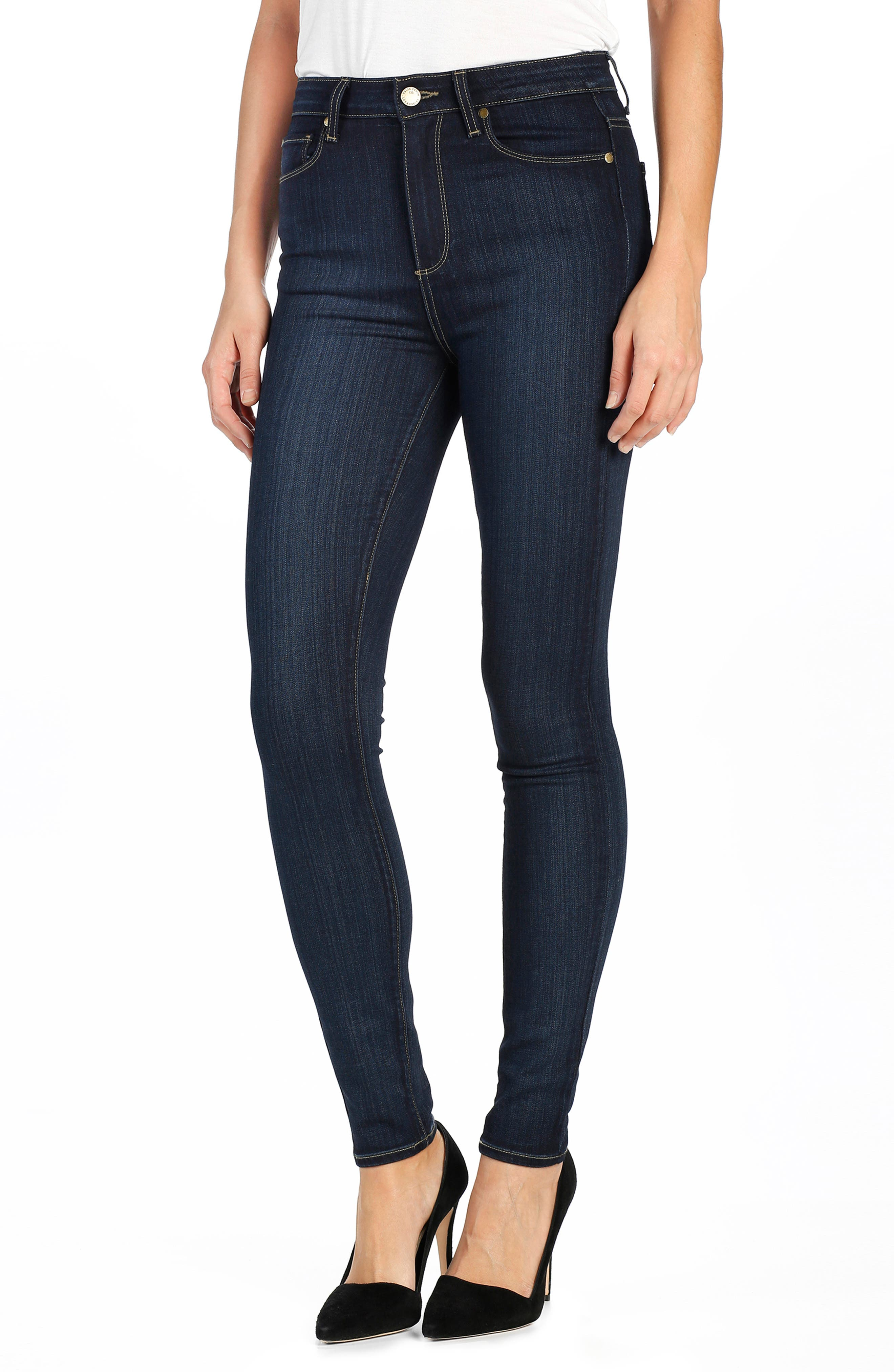 PAIGE Transcend - Margot High Waist Ultra Skinny Jeans, Main, color, LA RUE NO WHISKERS