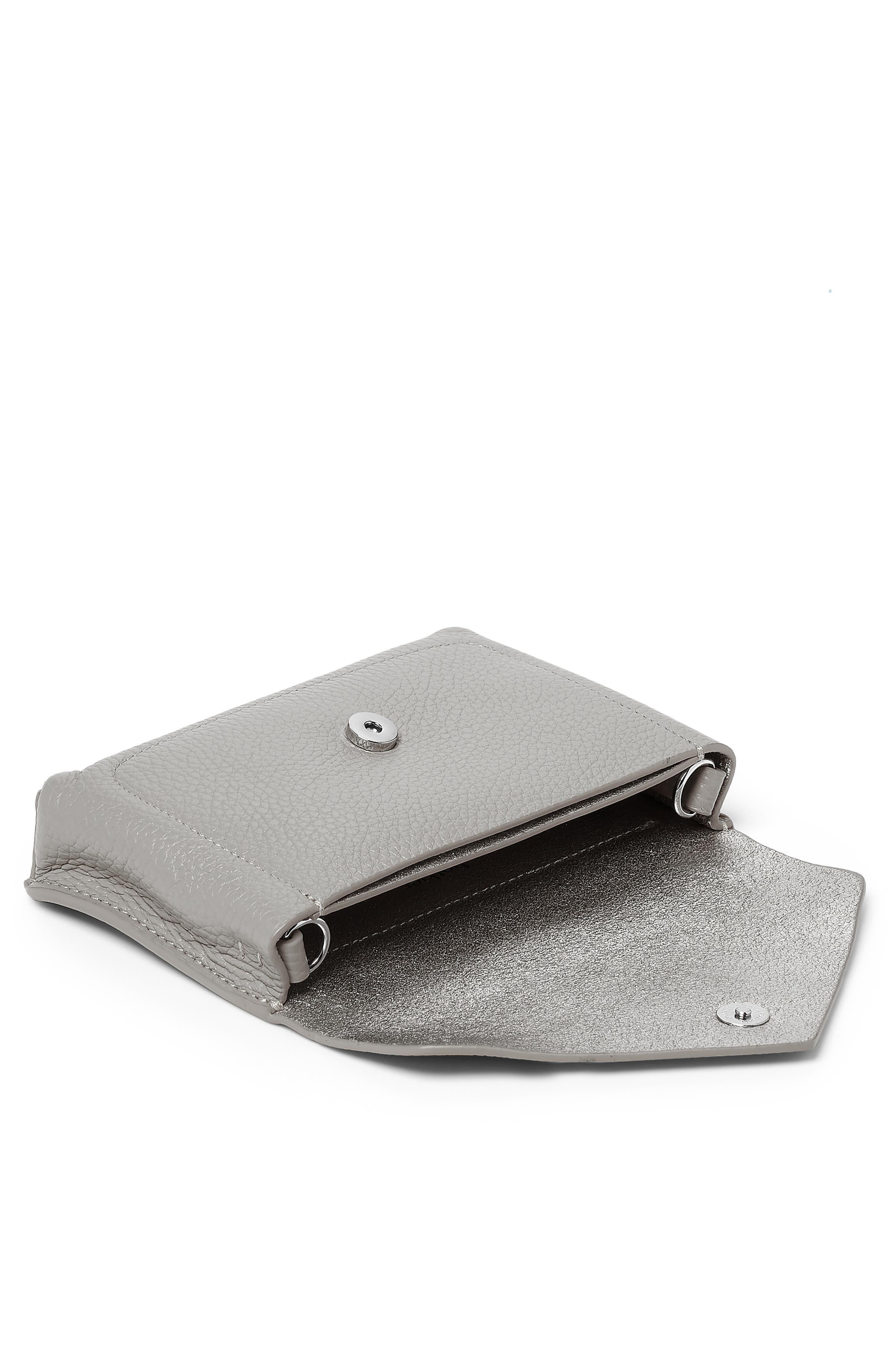 BOTKIER,                             Vivi Calfskin Leather Belt Bag,                             Alternate thumbnail 3, color,                             SILVER GREY