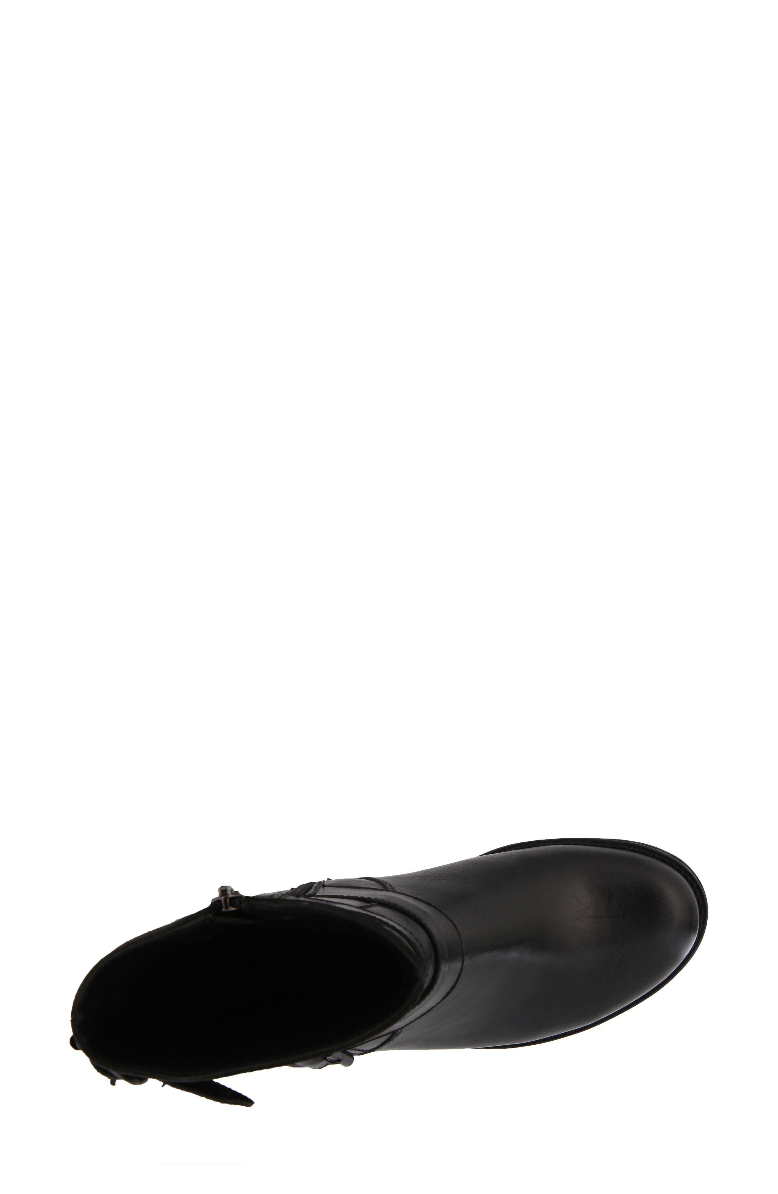 Diony Engineer Bootie,                             Alternate thumbnail 4, color,                             BLACK LEATHER