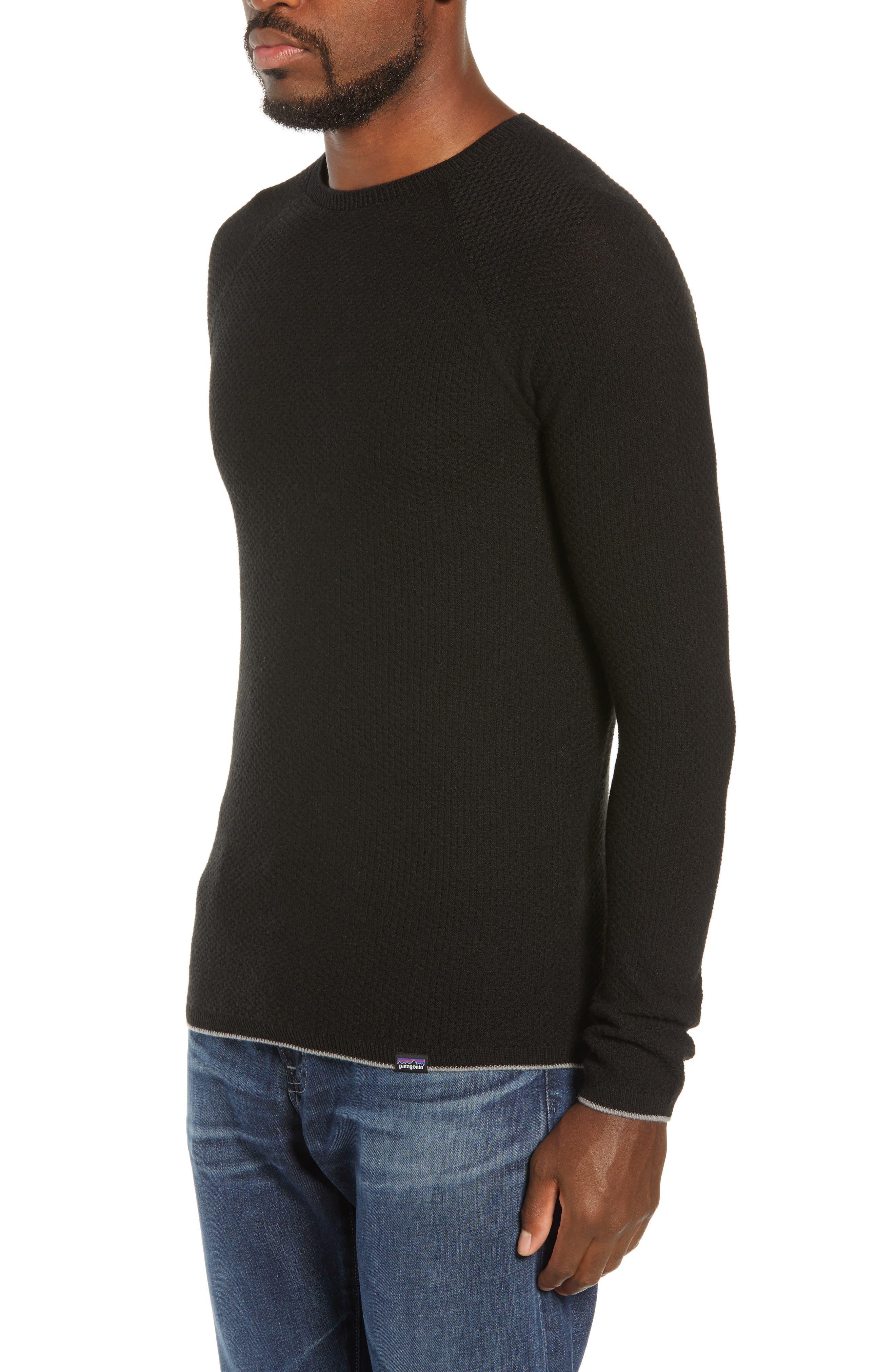 Capilene<sup>®</sup> Lightweight Air Crew Sweater,                             Alternate thumbnail 3, color,                             BLACK