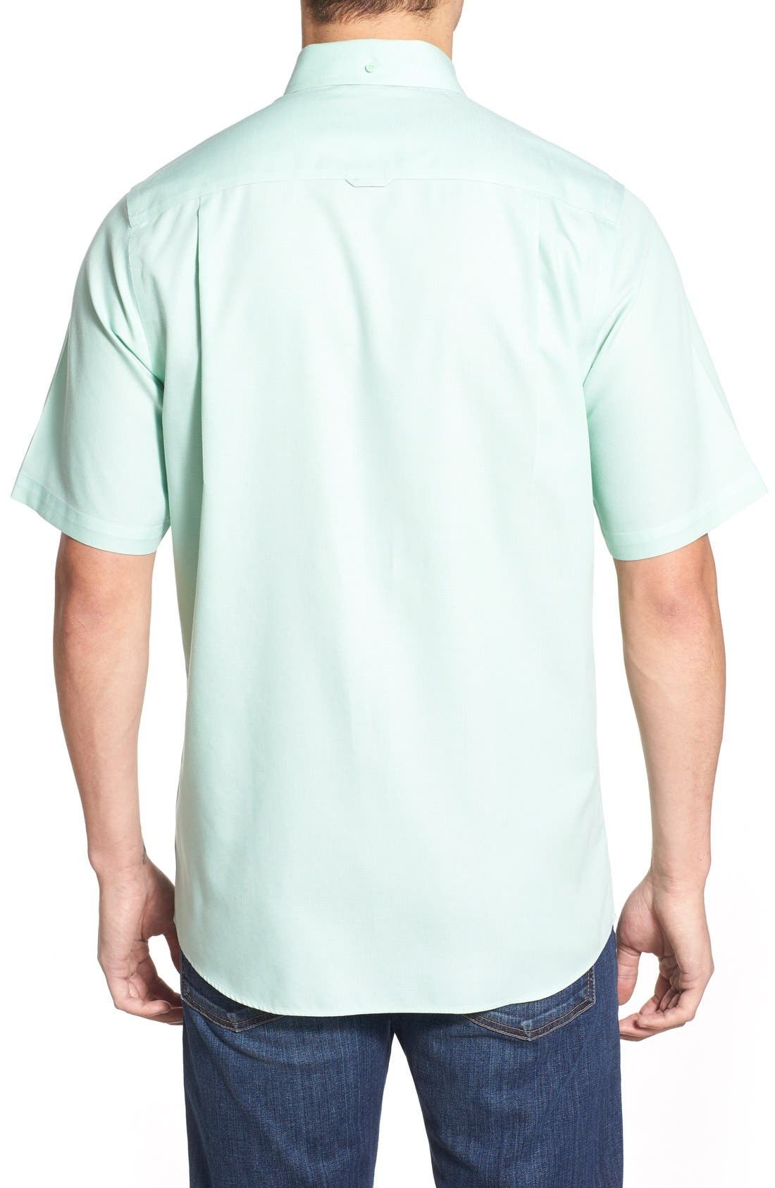 'Classic' Smartcare<sup>™</sup> Regular Fit Short Sleeve Cotton Sport Shirt,                             Alternate thumbnail 68, color,