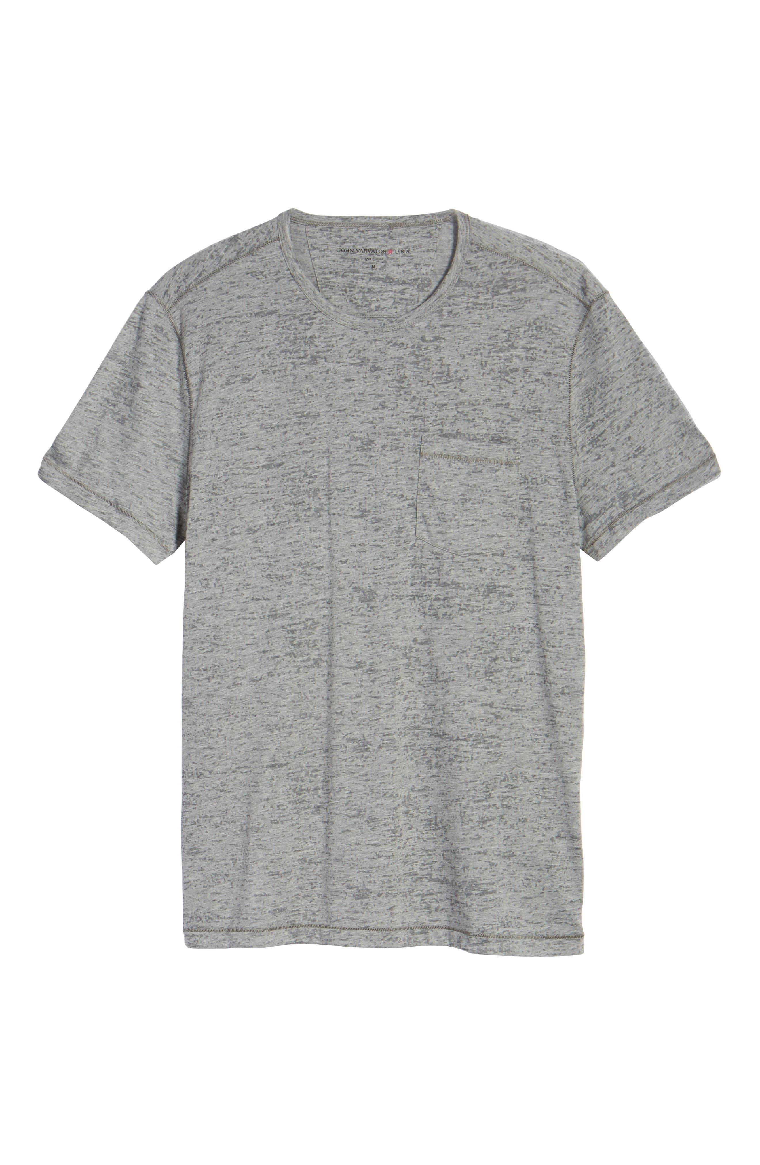 Burnout Trim Fit T-Shirt,                             Alternate thumbnail 6, color,                             LT. GREY HEATHER