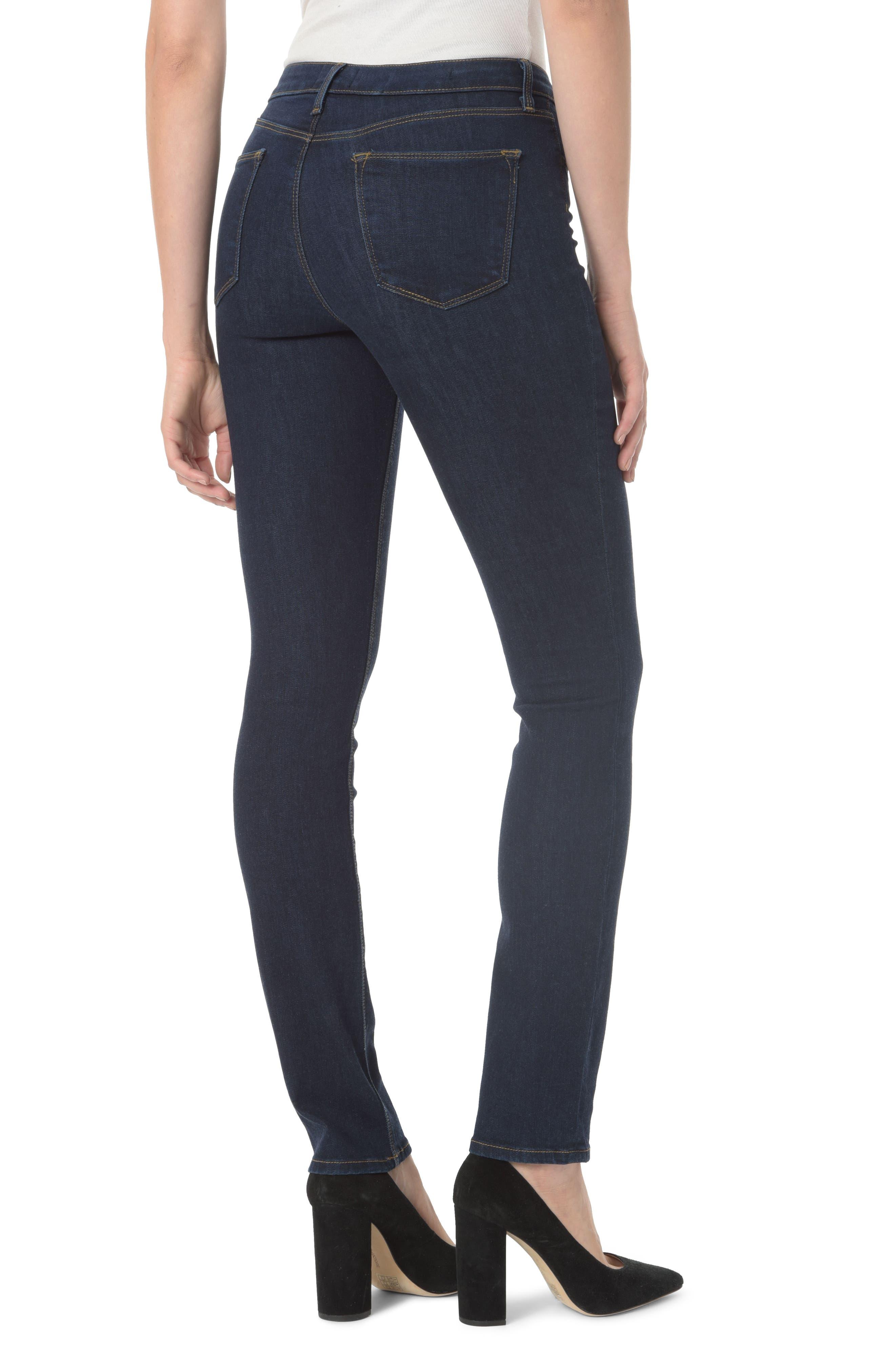 Parker High Waist Stretch Slim Leg Jeans,                             Alternate thumbnail 2, color,                             408