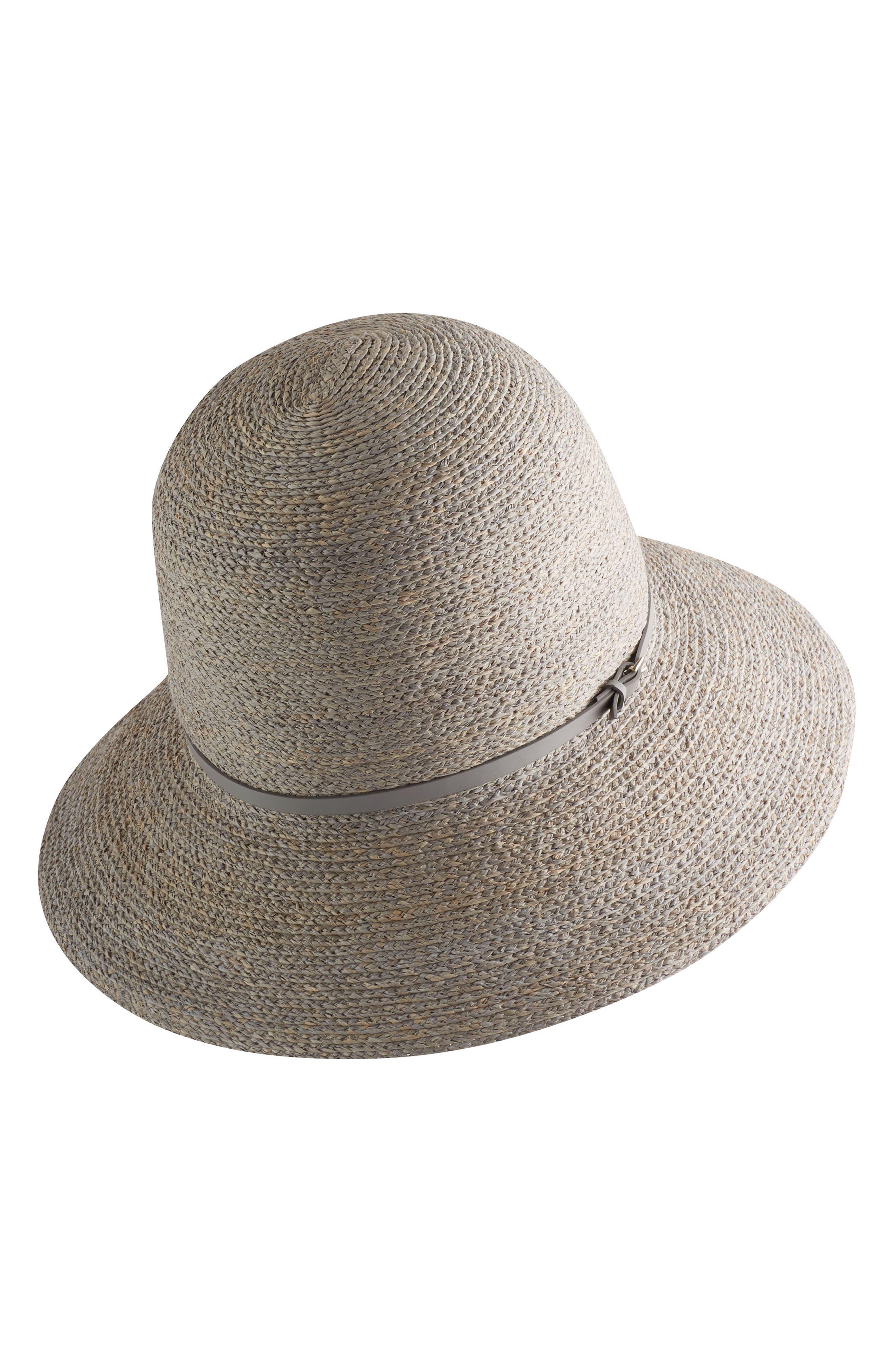 Packable Raffia Cloche Hat,                             Main thumbnail 1, color,
