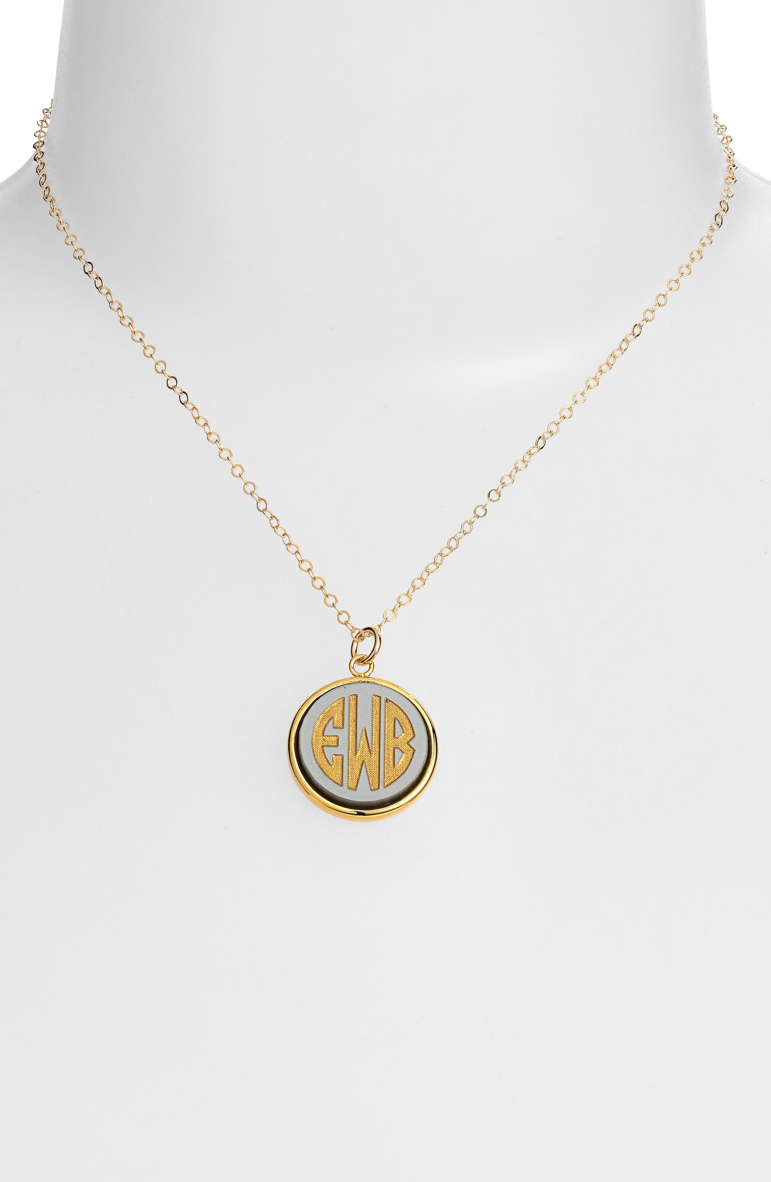'Vineyard' Personalized Monogram Pendant Necklace,                             Alternate thumbnail 16, color,