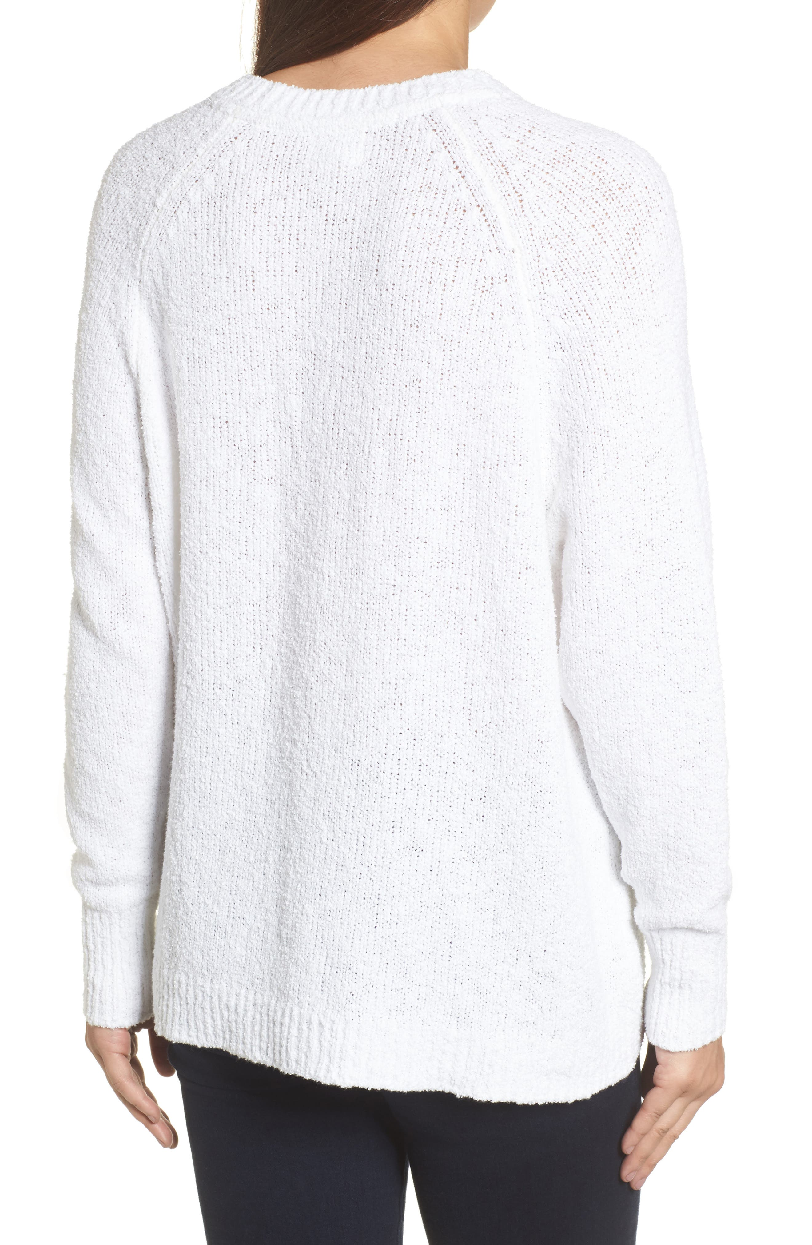 Relaxed Crewneck Sweater,                             Alternate thumbnail 2, color,                             100