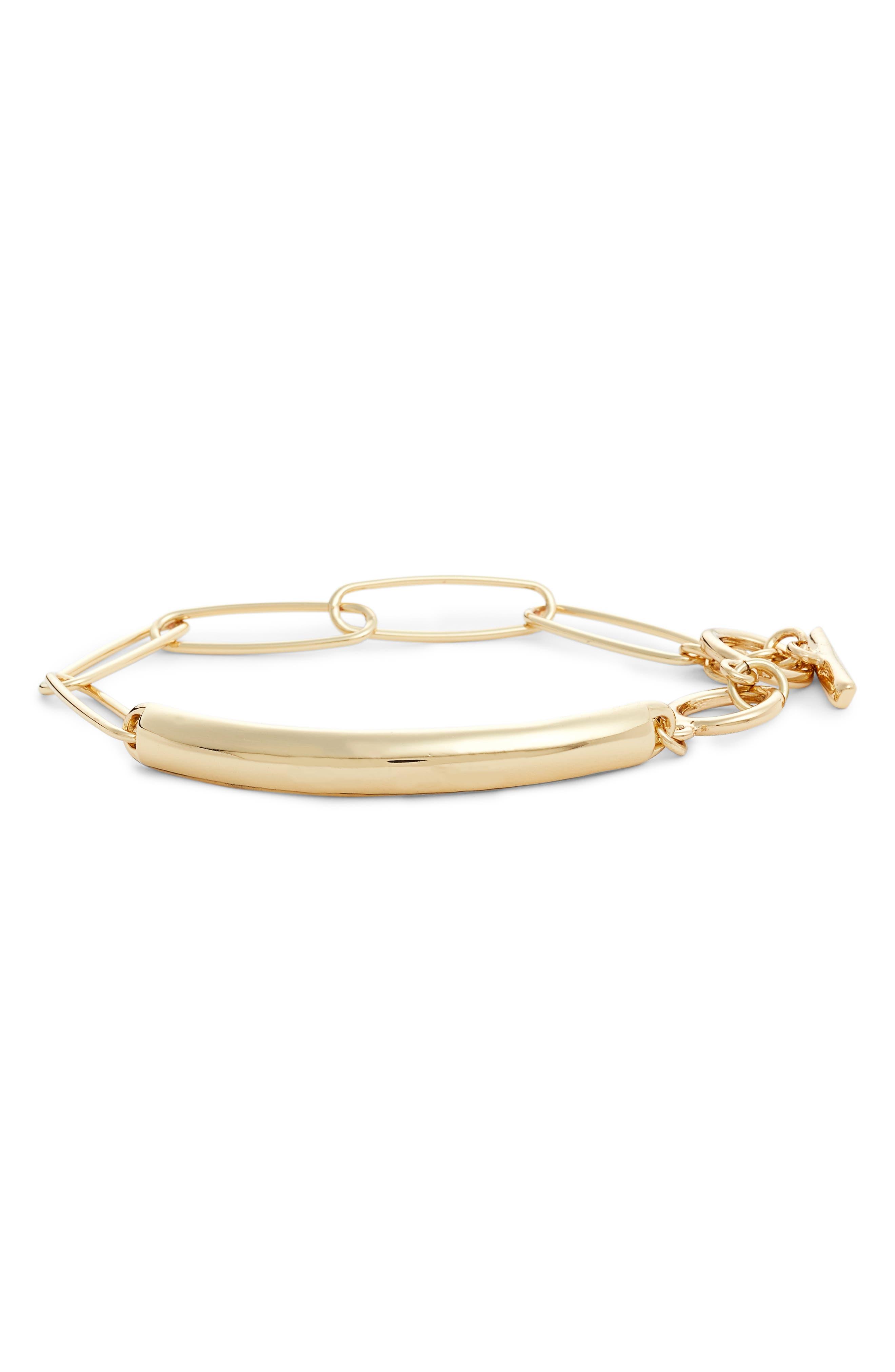 Metal ID Toggle Bracelet,                         Main,                         color, 710