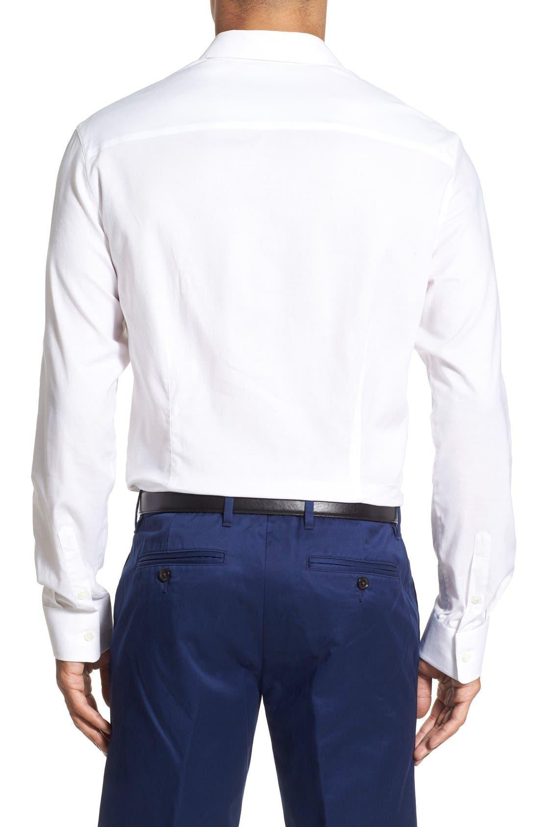 Trim Fit Sport Shirt,                             Alternate thumbnail 2, color,                             100