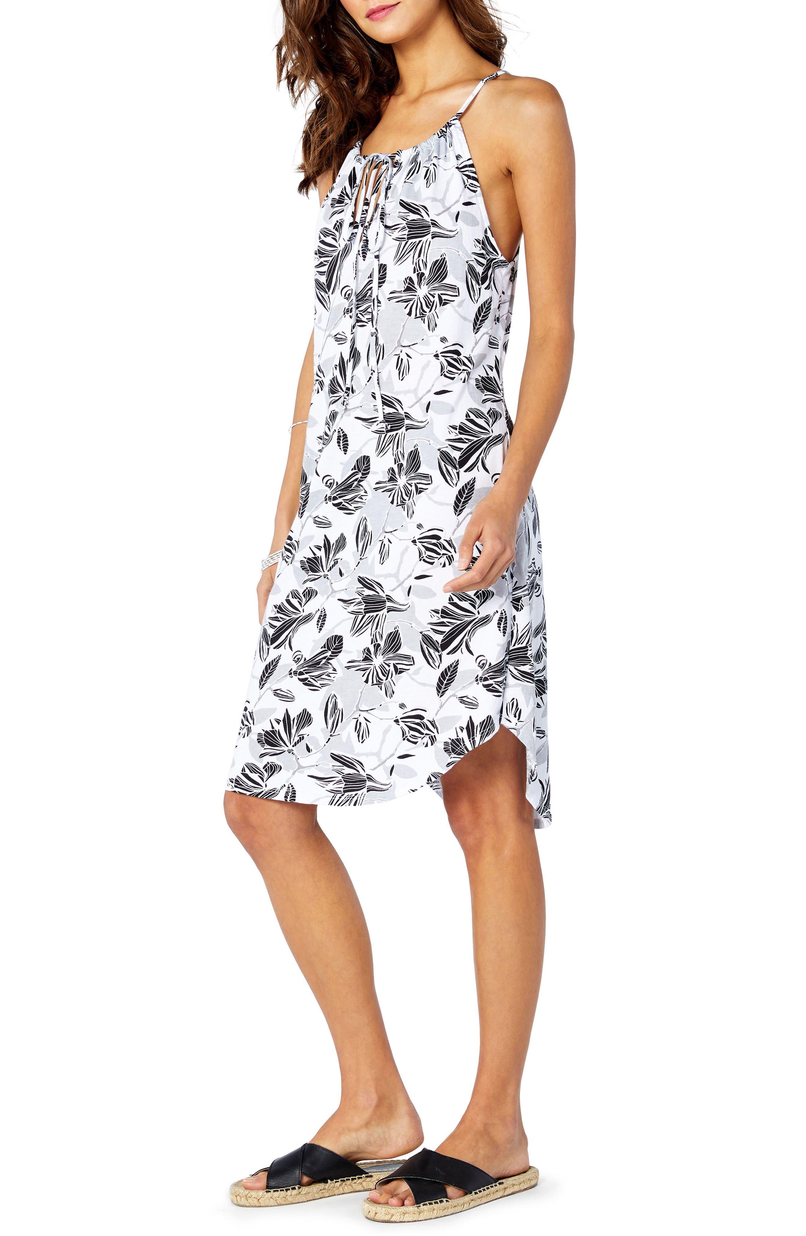 Floral Sun Dress,                             Alternate thumbnail 5, color,                             100