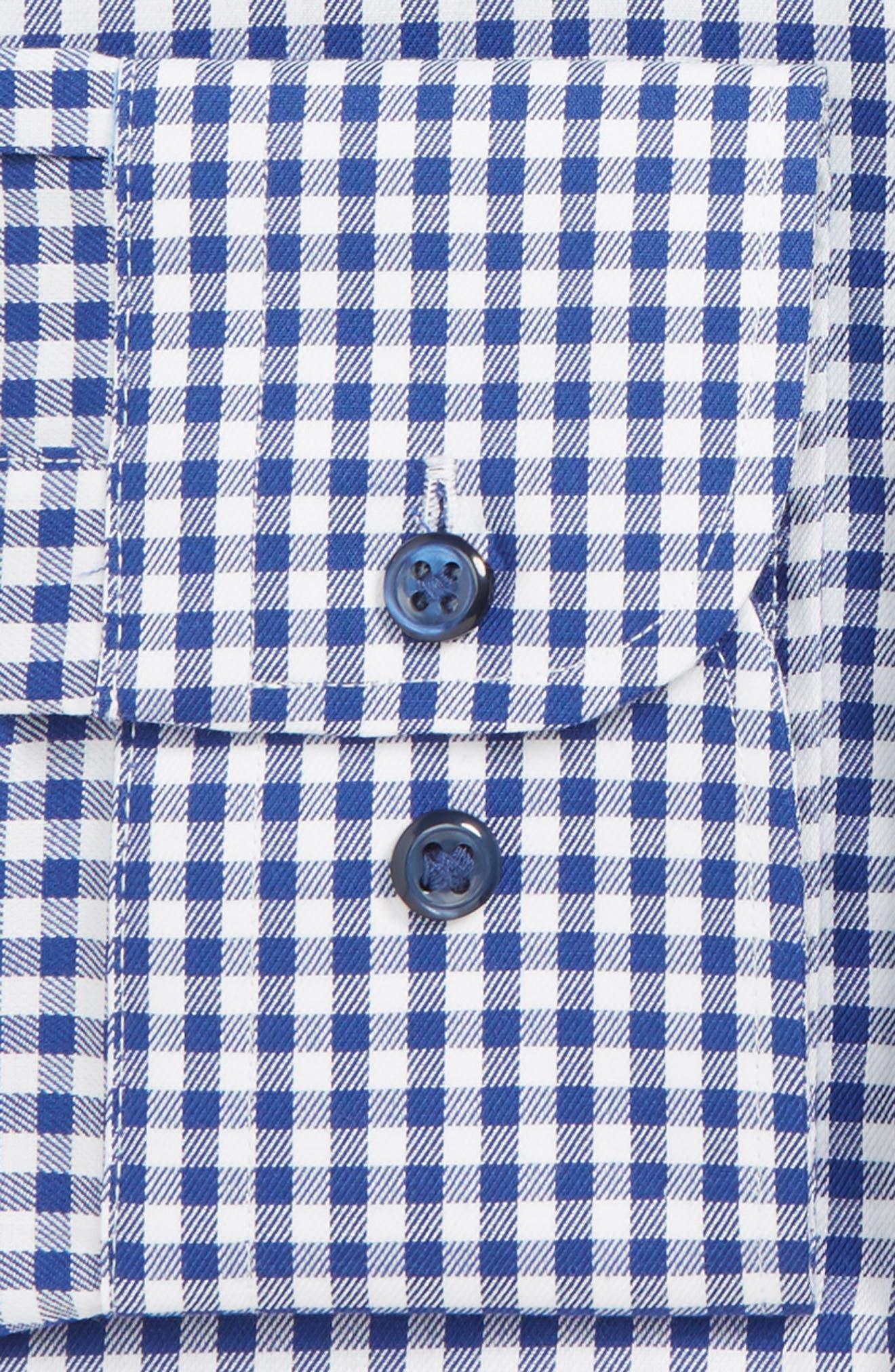 Classic Fit Non-Iron Gingham Dress Shirt,                             Alternate thumbnail 2, color,                             NAVY PATRIOT