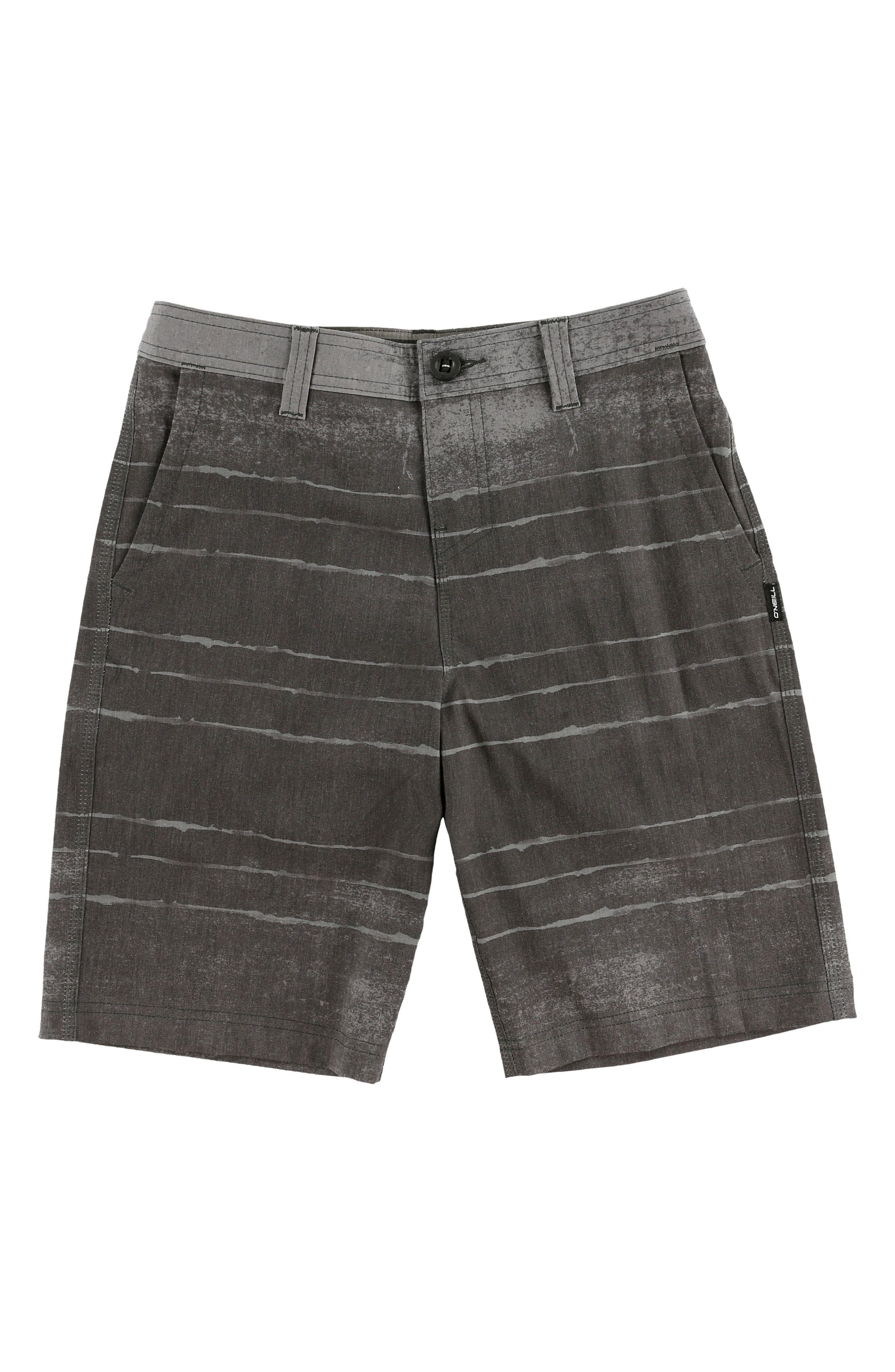 O'NEILL,                             Tye Striper Hybrid Shorts,                             Main thumbnail 1, color,                             ASPHALT