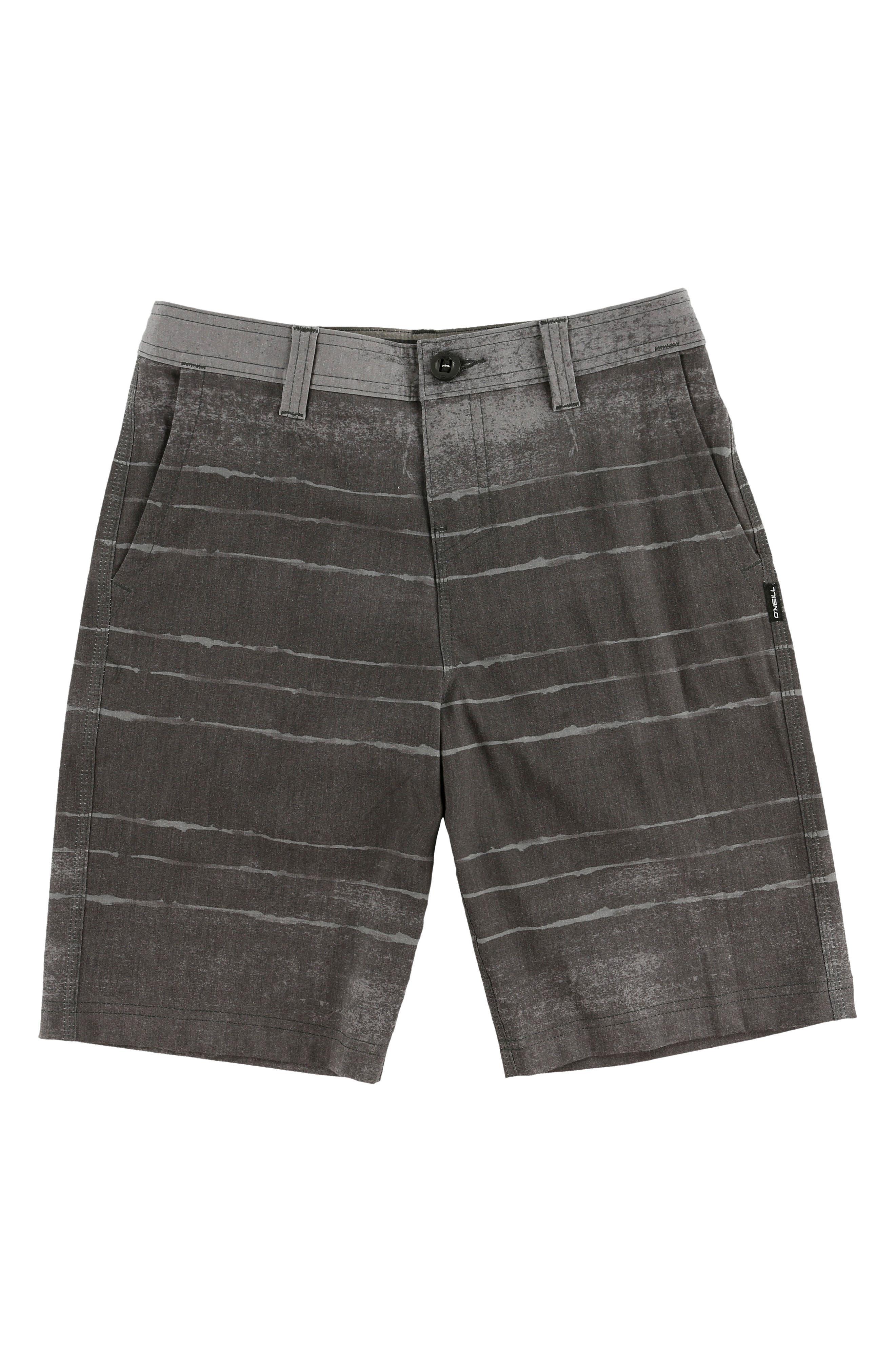 O'NEILL Tye Striper Hybrid Shorts, Main, color, ASPHALT