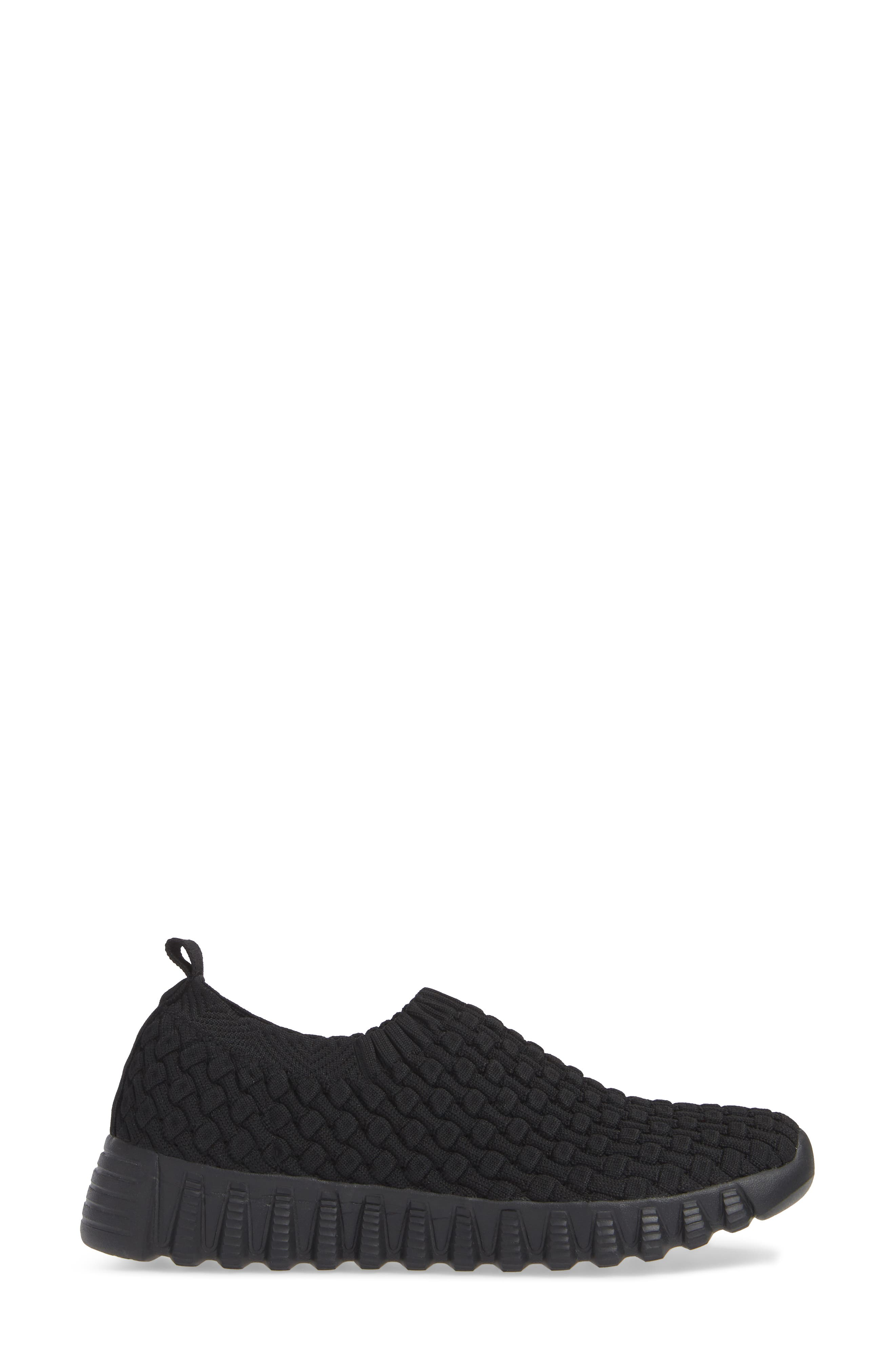 Tender Slip-On Sneaker,                             Alternate thumbnail 3, color,                             BLACK FABRIC