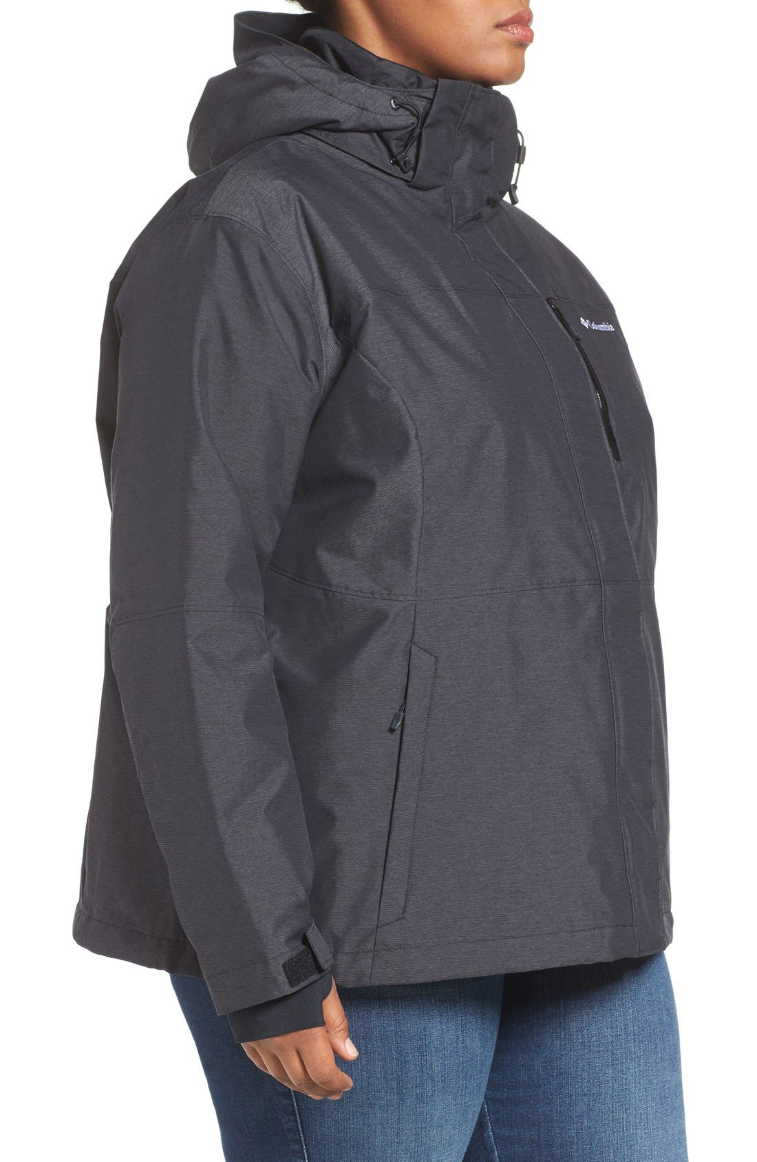 Alpine Action Waterproof Omni-Heat<sup>®</sup> Hooded Jacket,                             Alternate thumbnail 8, color,