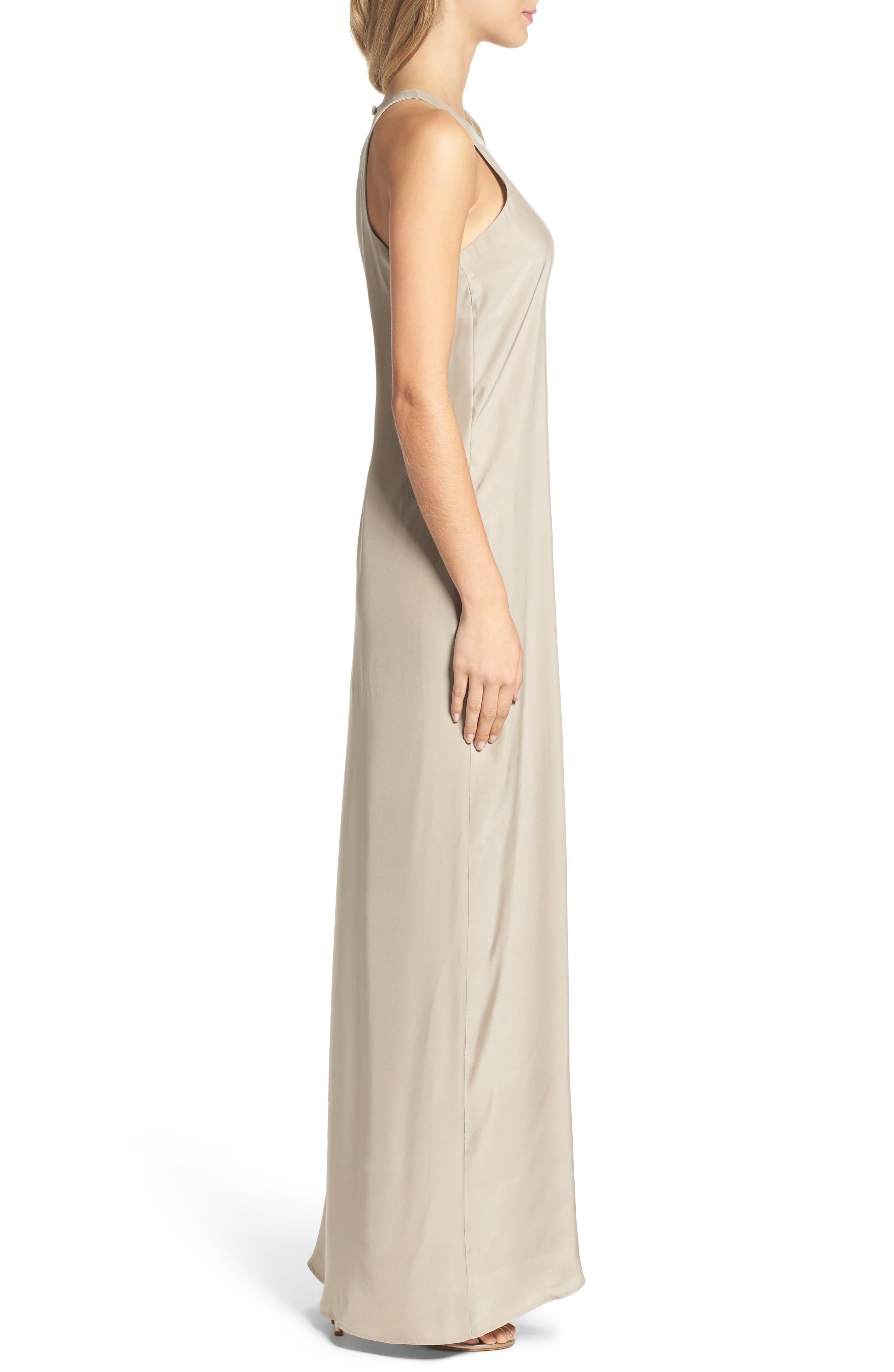 Silk Column Gown,                             Alternate thumbnail 3, color,                             260