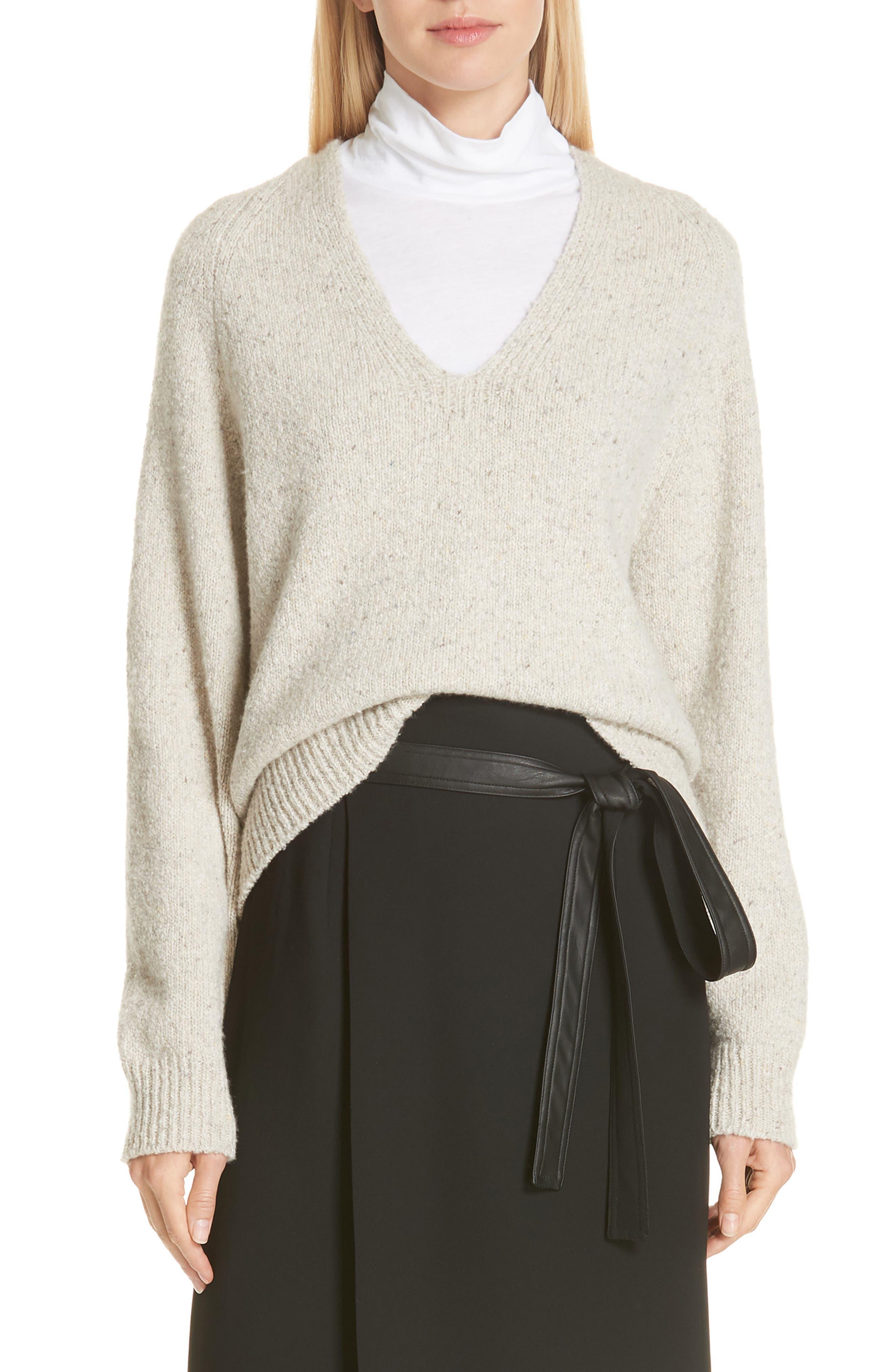 V-Neck Cashmere Sweater,                             Main thumbnail 1, color,                             902