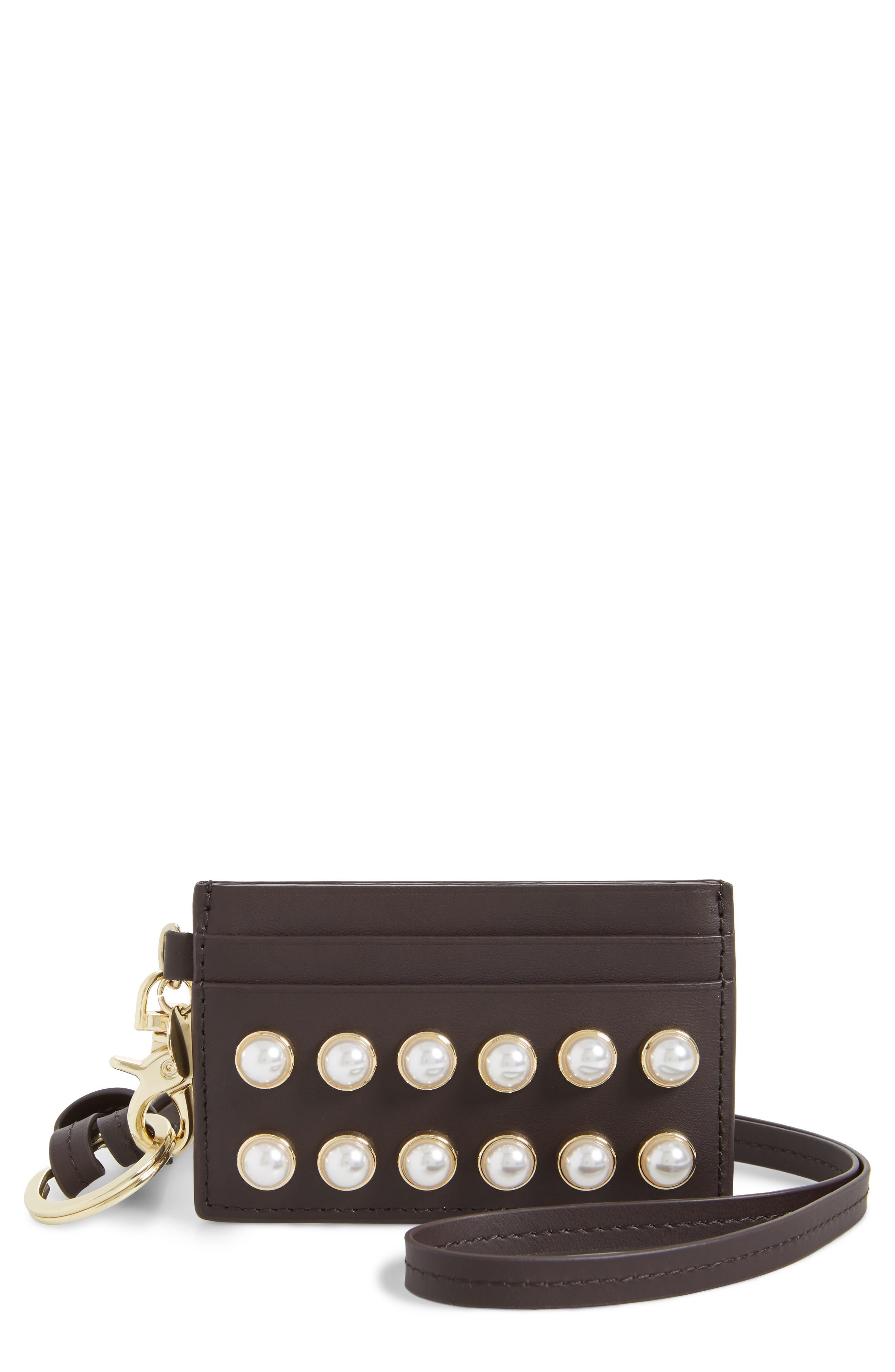 Imitation Pearl Lady Earthette Leather Lanyard,                         Main,                         color, 500