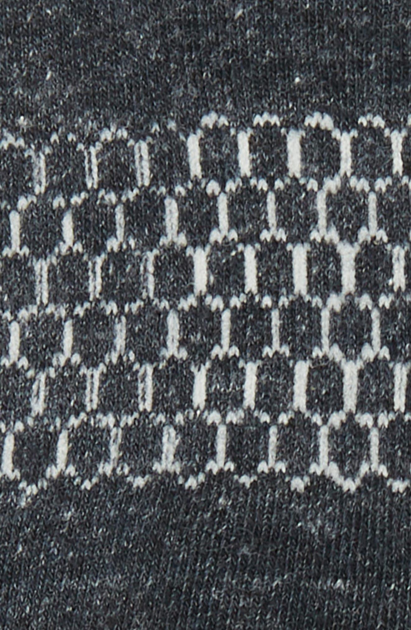 Quarters Socks,                             Alternate thumbnail 2, color,                             CHARCOAL