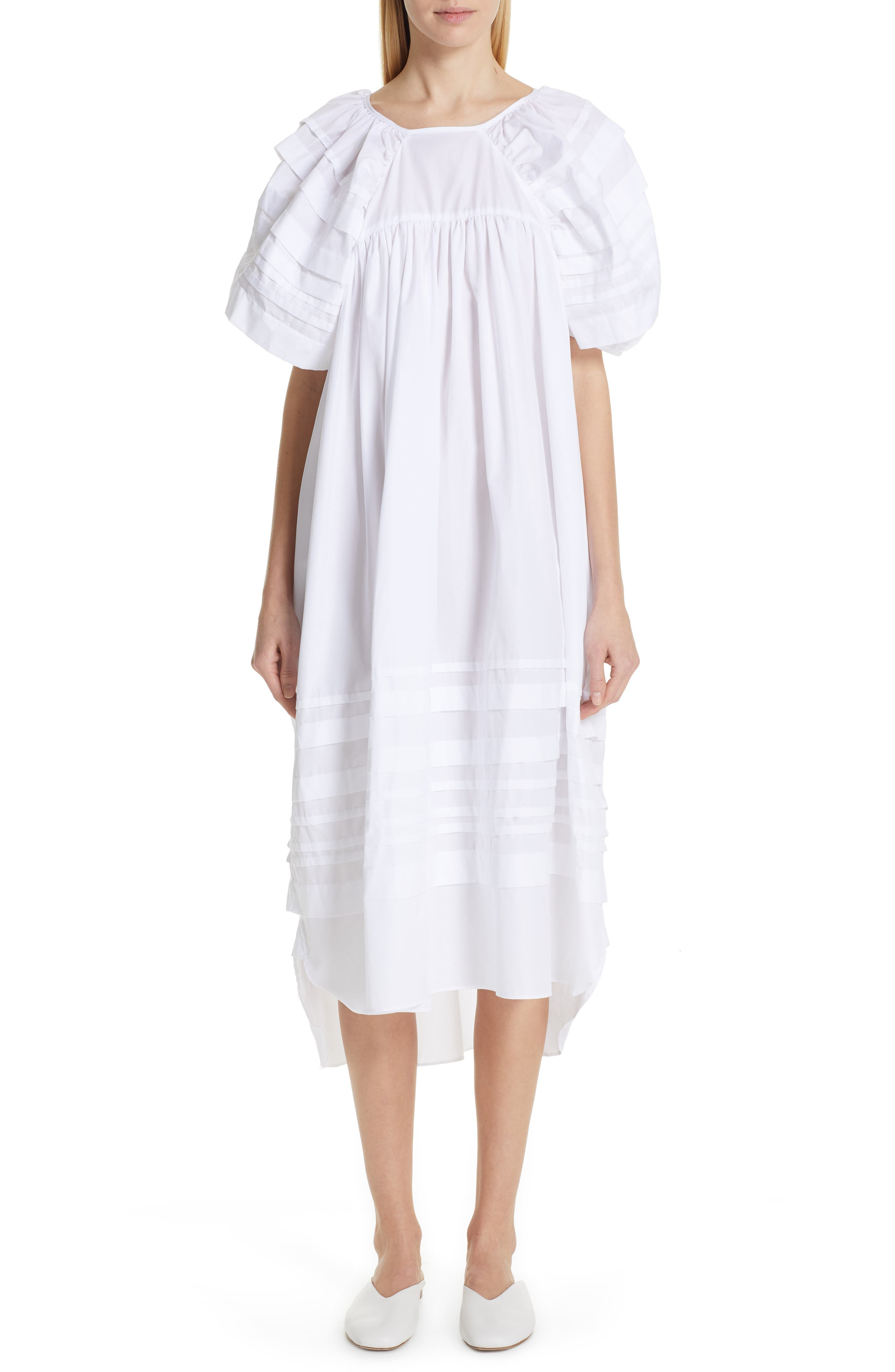 CECILIE BAHNSEN Penelope Dress in White