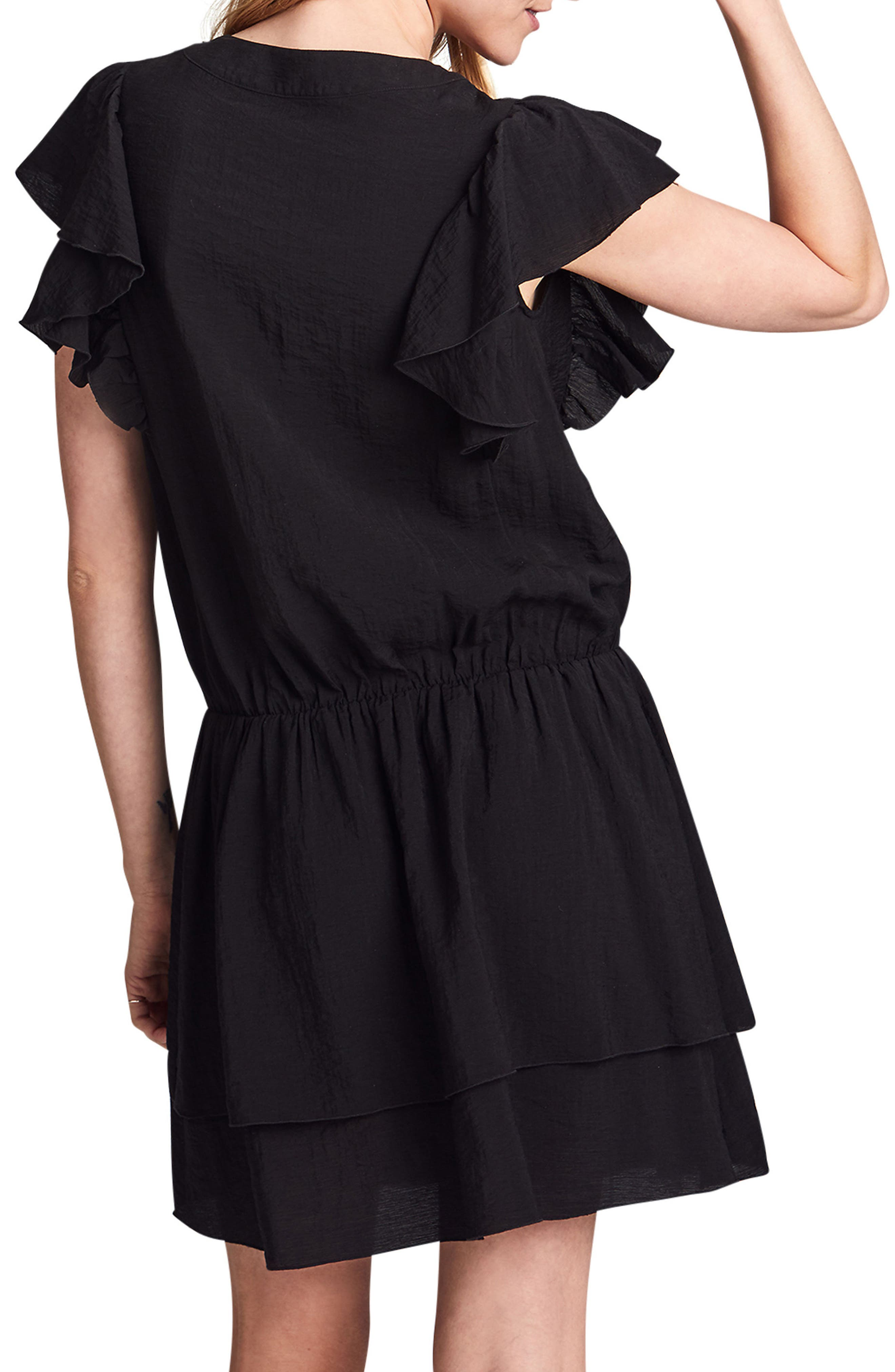 Naomi Nursing Dress,                             Alternate thumbnail 2, color,                             BLACK
