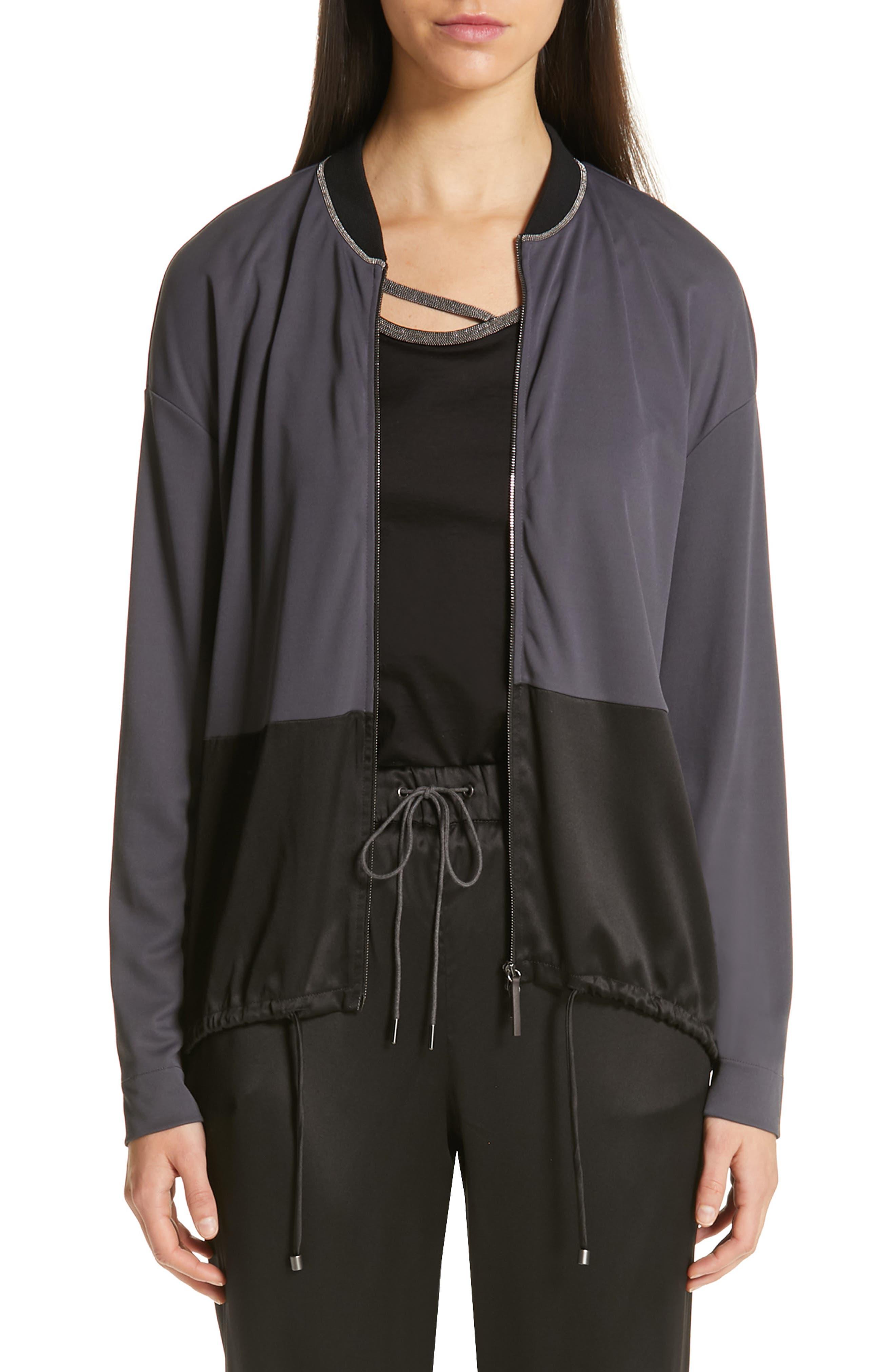 Track Jacket, Main, color, SLATE/ BLACK