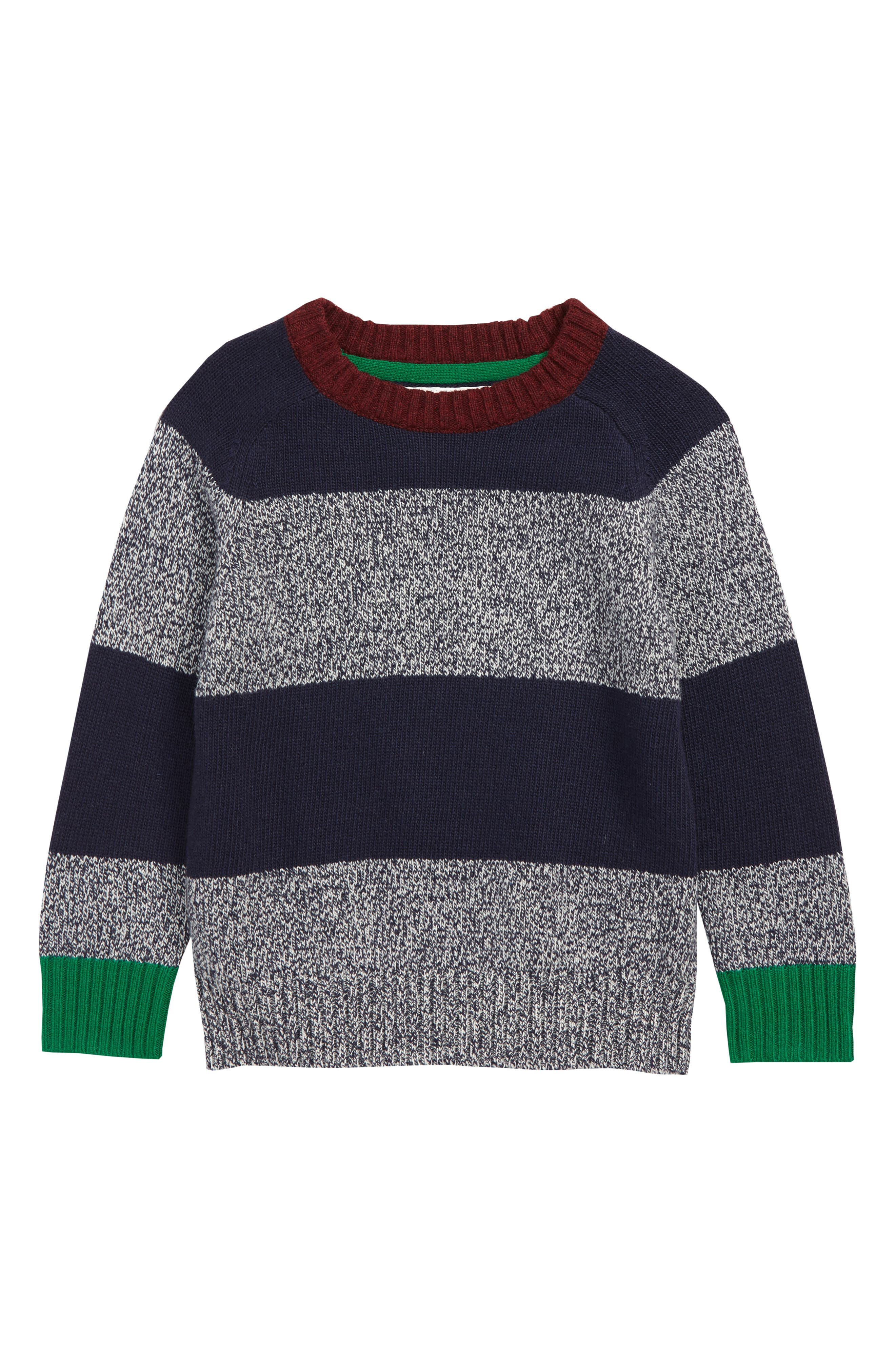 Boys Mini Boden Stripe Sweater Size 910Y  Blue