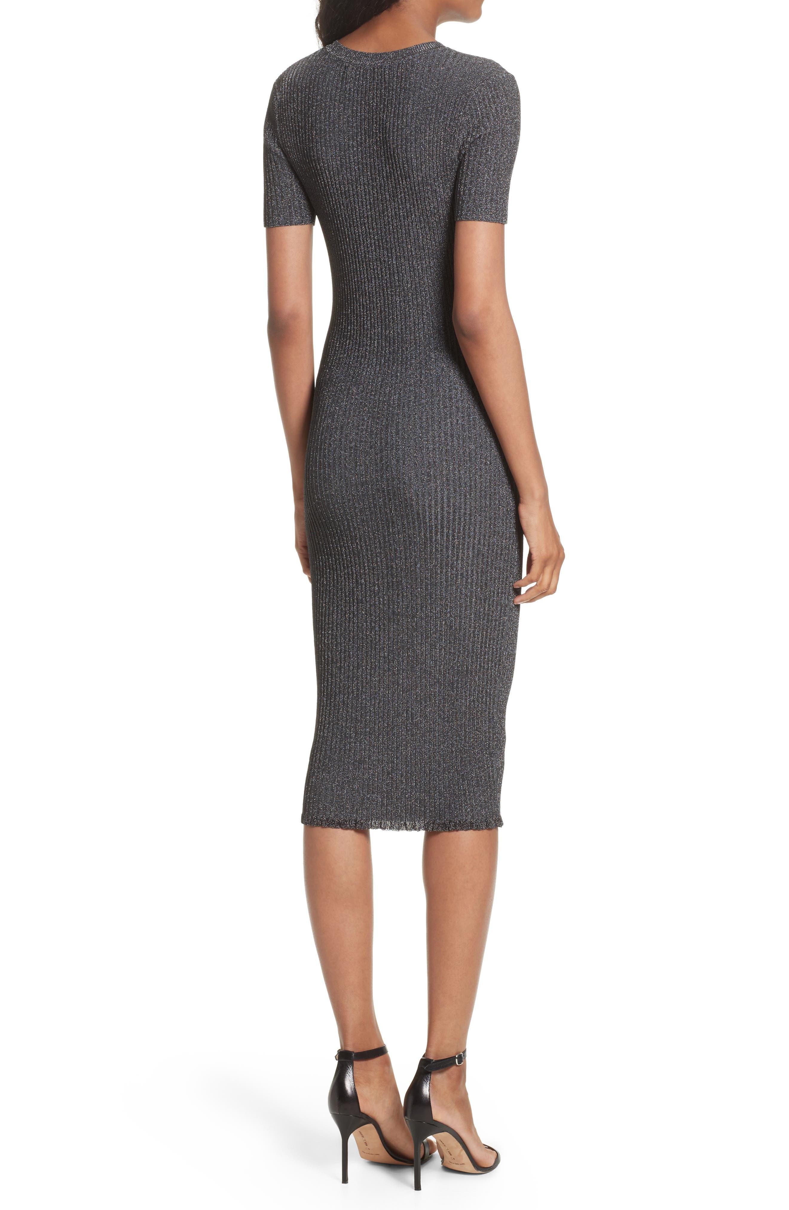 Stardust Rib Knit Sheath Dress,                             Alternate thumbnail 2, color,                             022