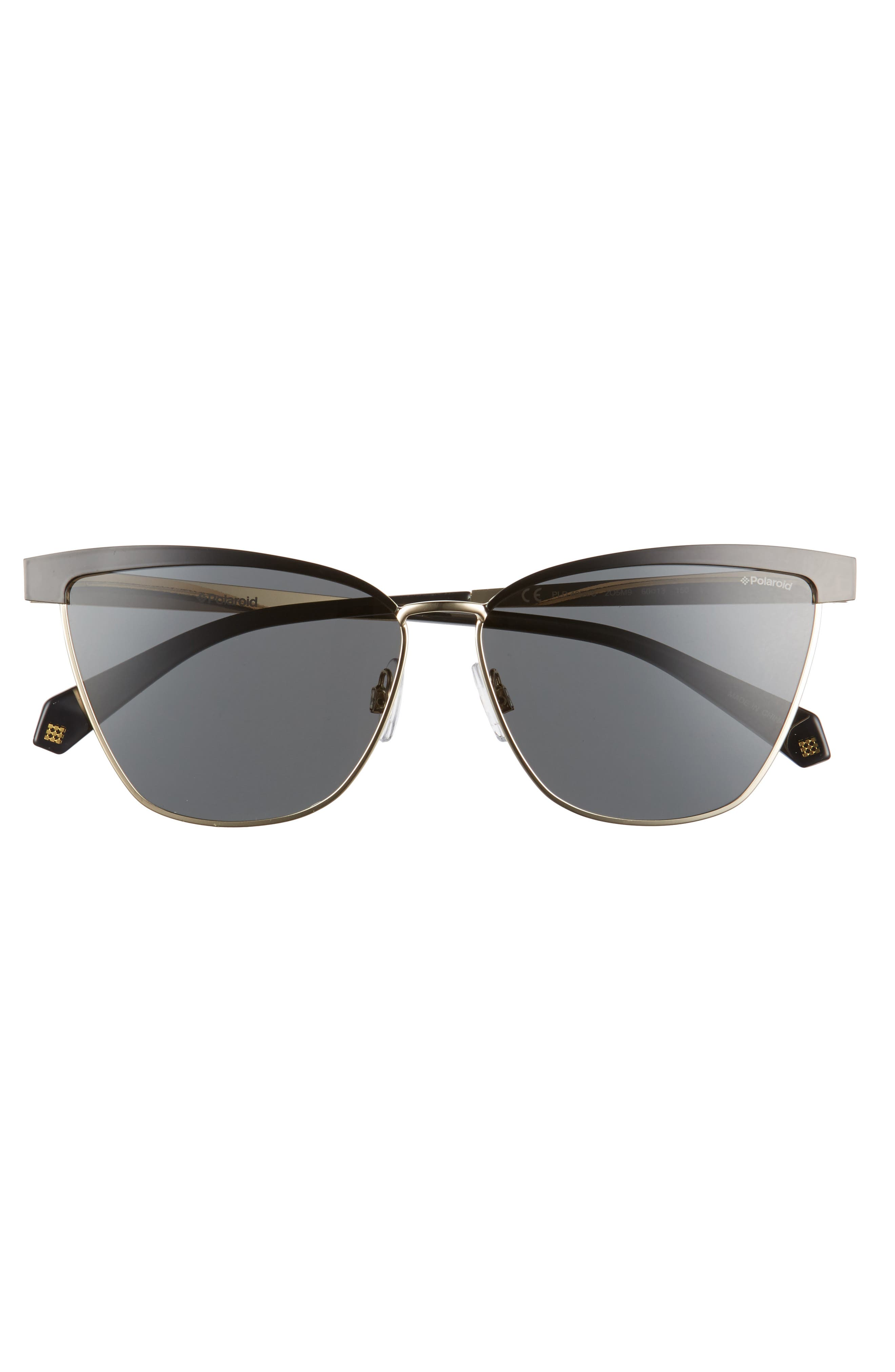 60mm Polarized Cat Eye Sunglasses,                             Alternate thumbnail 5, color,