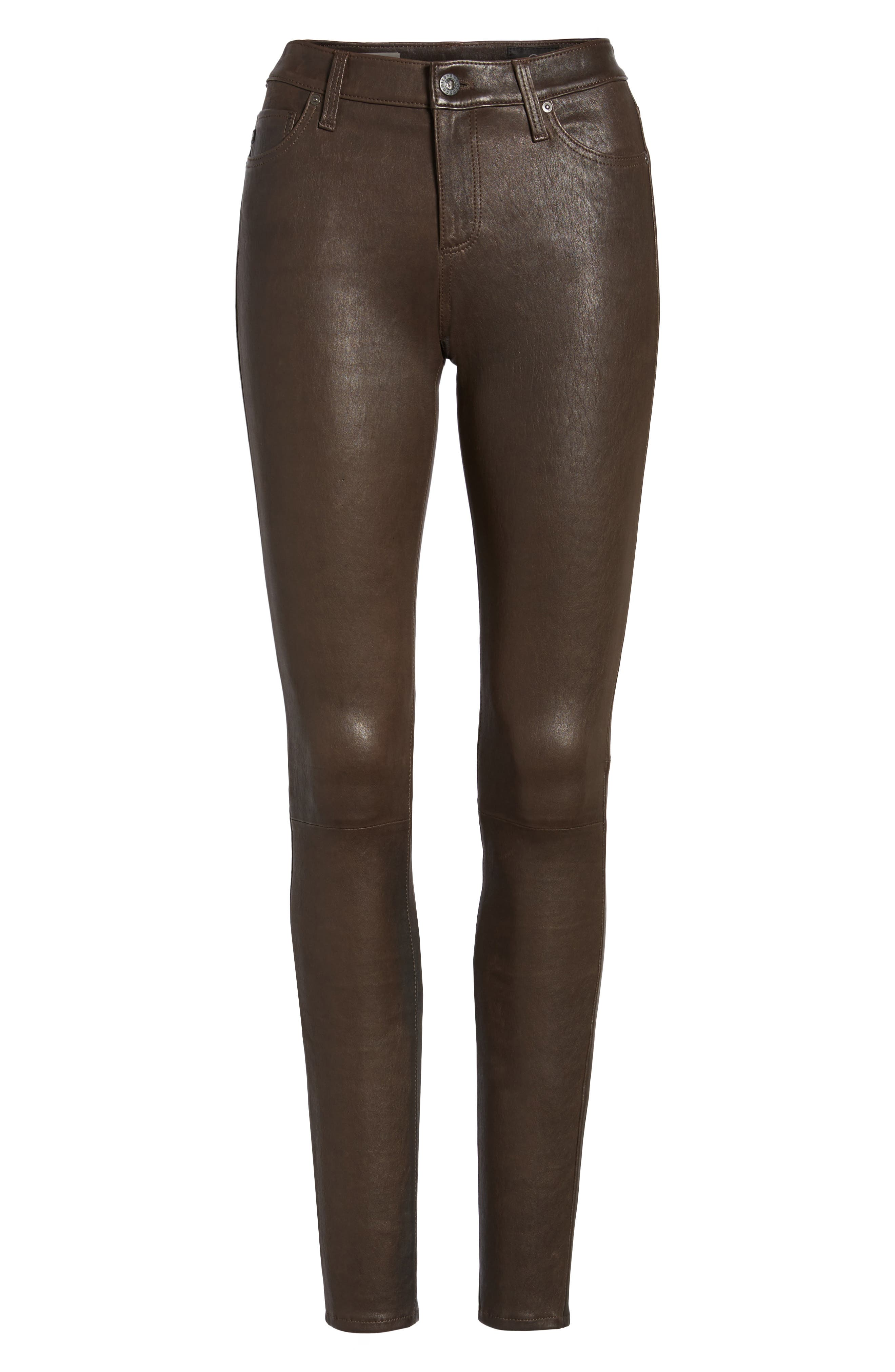AG,                             The Legging Super Skinny Leather Pants,                             Alternate thumbnail 7, color,                             248