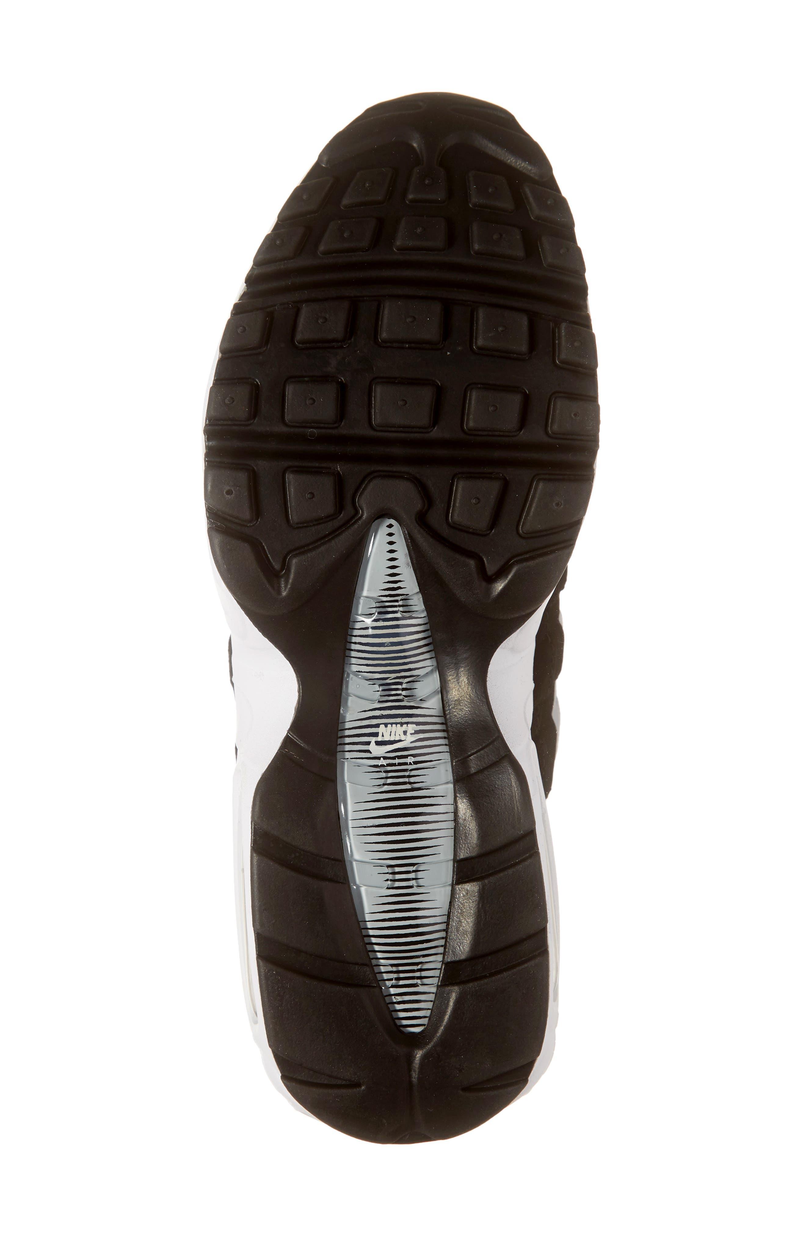 NIKE,                             'Air Max 95 Essential' Sneaker,                             Alternate thumbnail 6, color,                             BLACK/ WHITE/ WOLF GREY