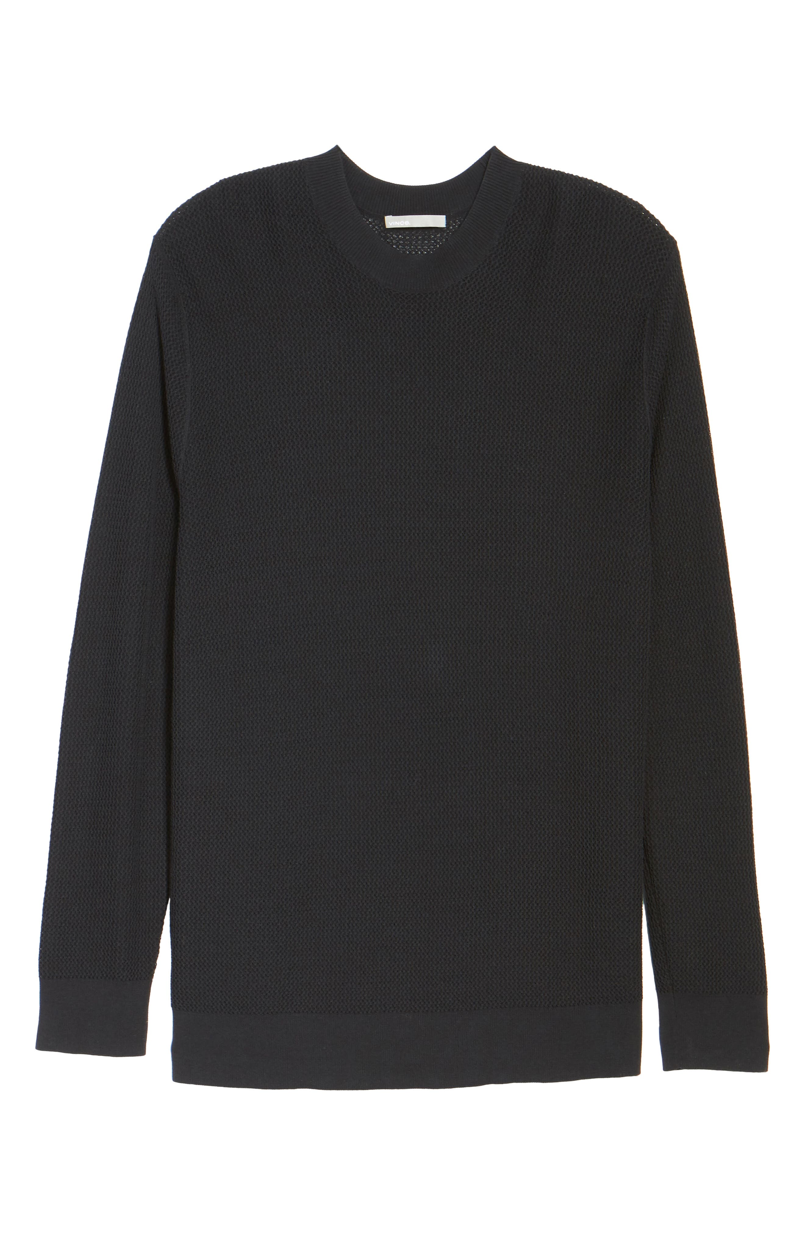 Mesh Crewneck Sweater,                             Alternate thumbnail 6, color,                             001