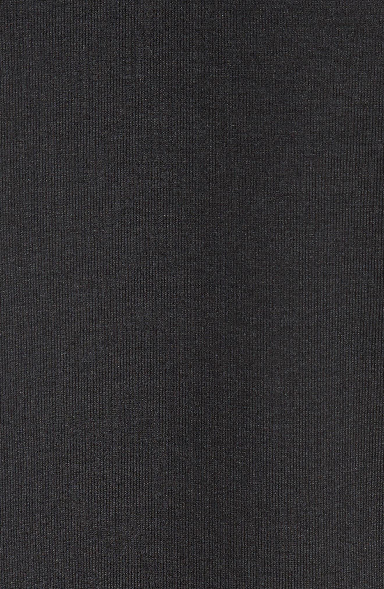 Scoop Neck Cotton Tee,                             Alternate thumbnail 6, color,                             BLACK