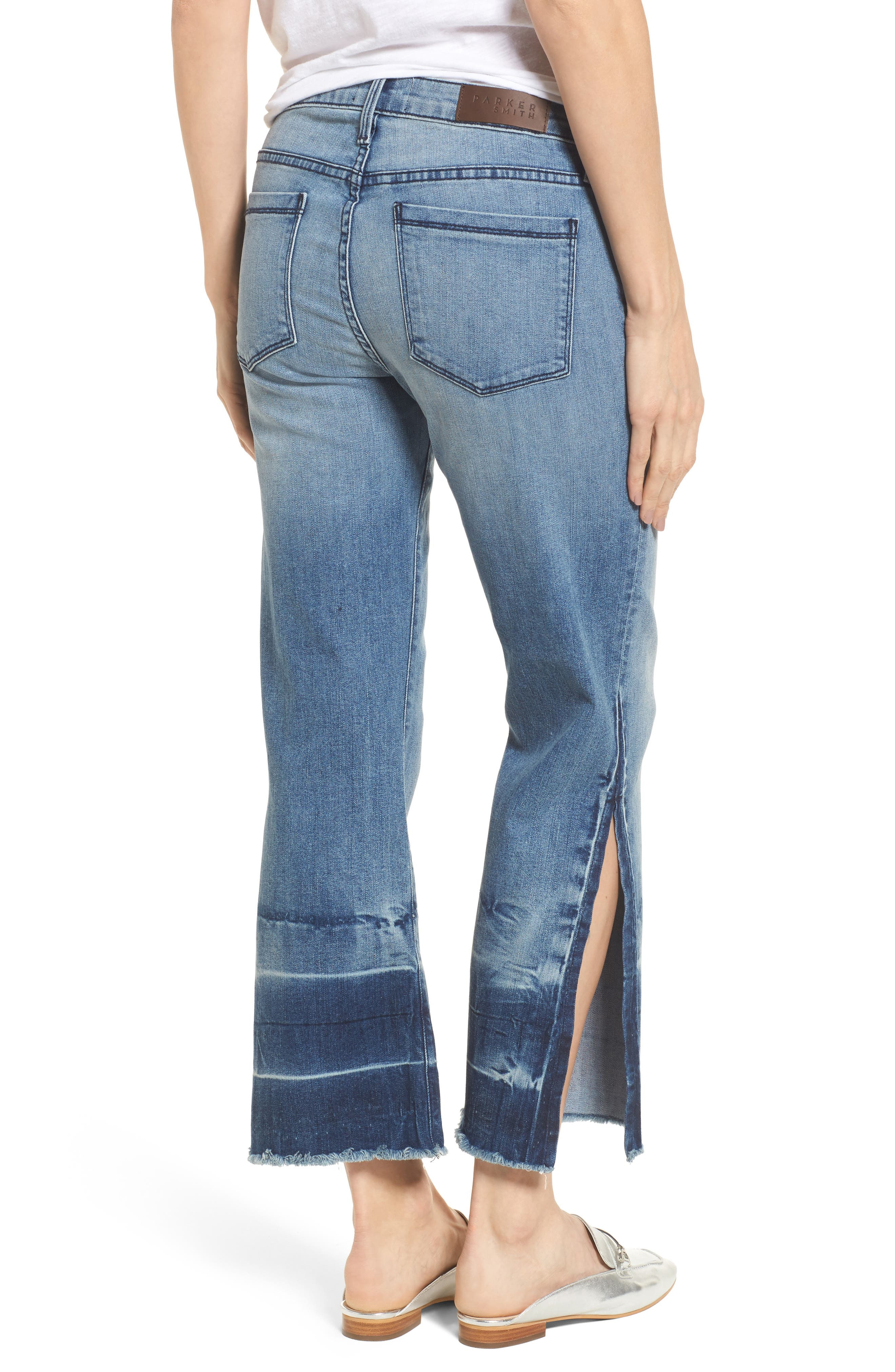 Off-Beat Crop Flare Jeans,                             Alternate thumbnail 2, color,                             424