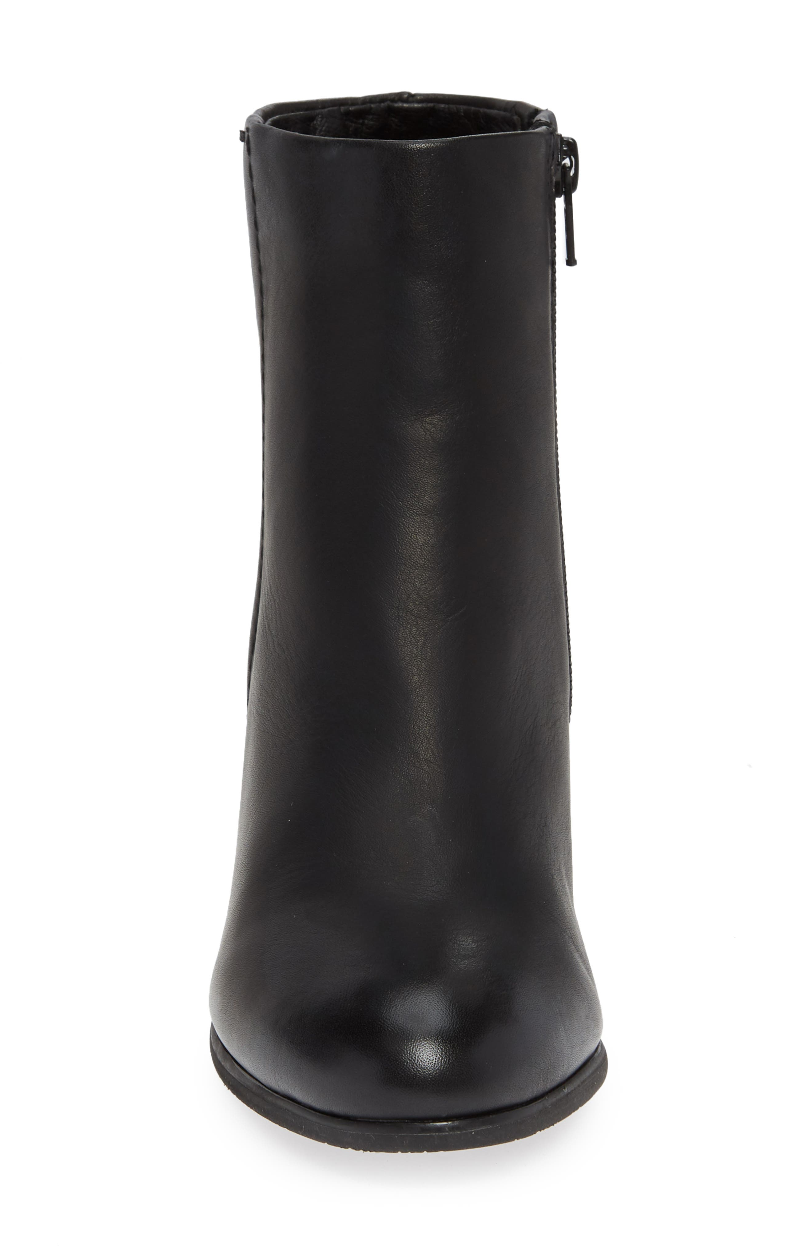 VIONIC,                             Kennedy Ankle Bootie,                             Alternate thumbnail 4, color,                             BLACK LEATHER