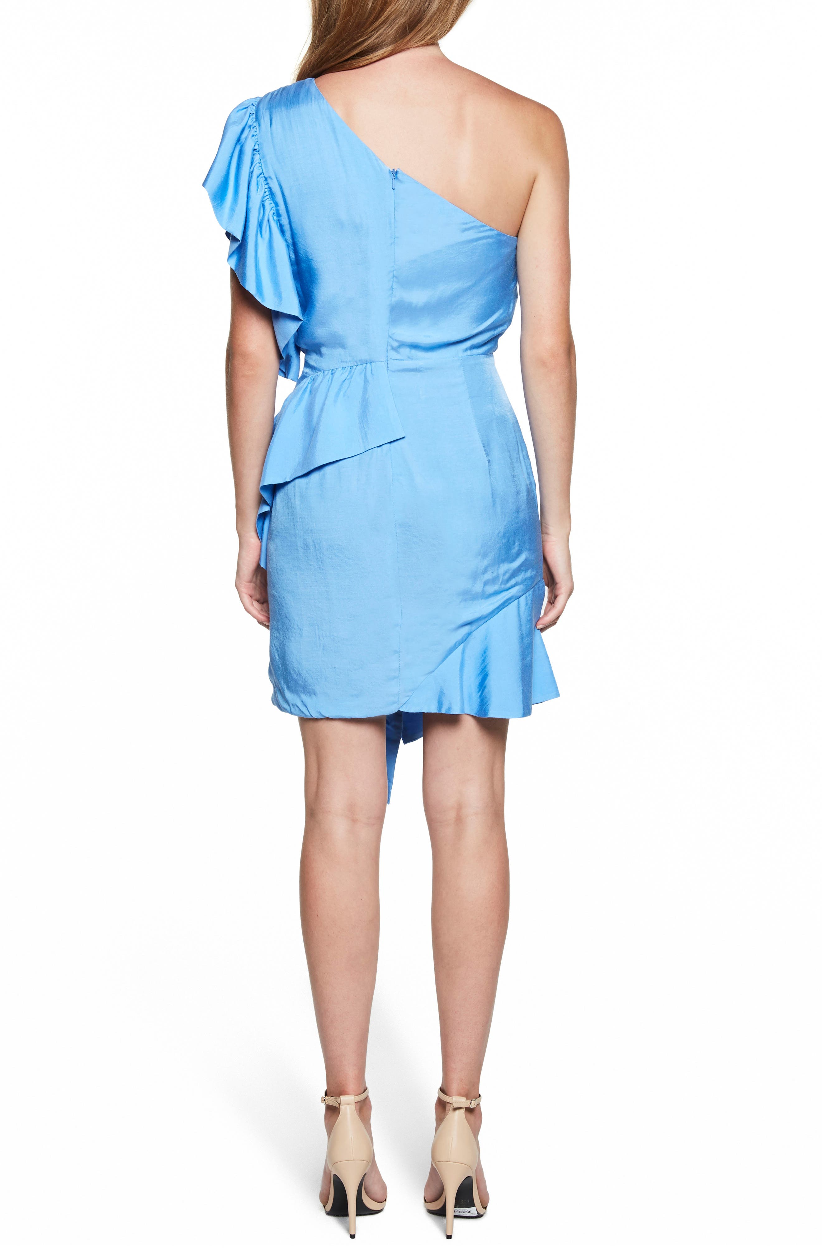 Lucia Frill One-Shoulder Dress,                             Alternate thumbnail 4, color,