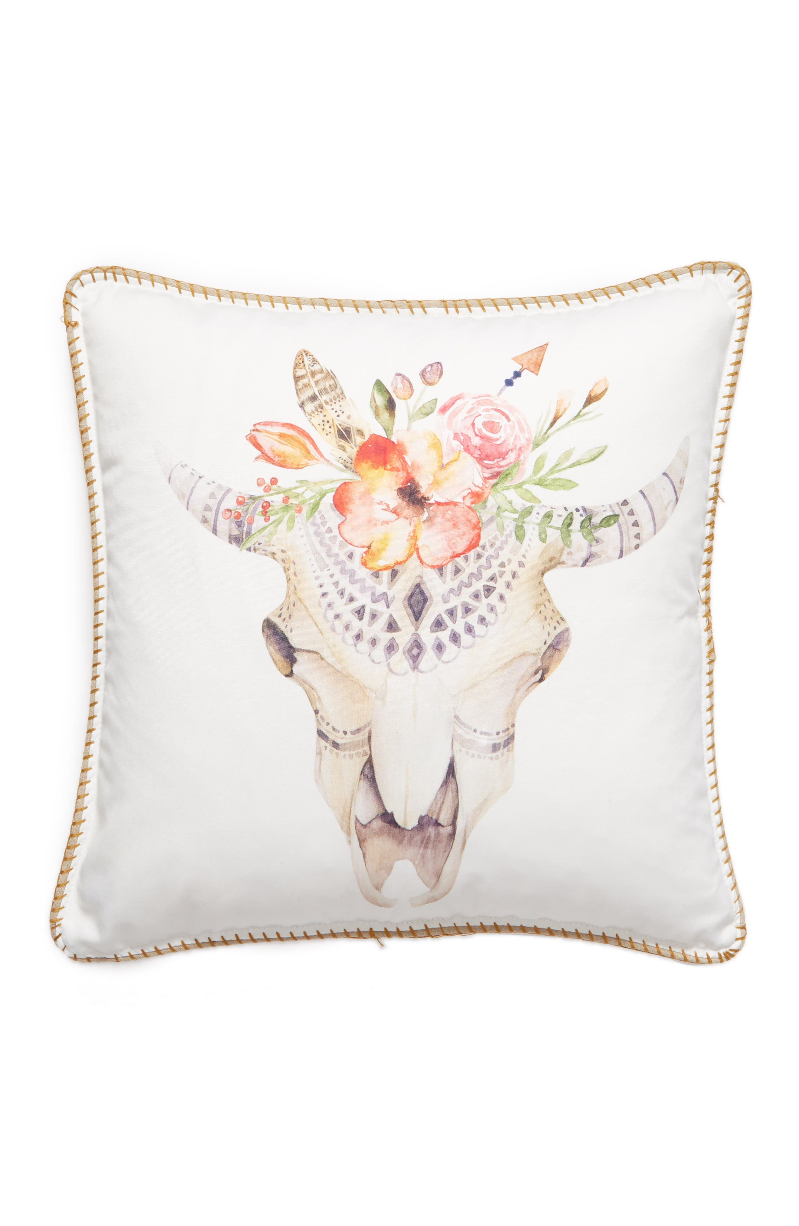 Jordan Skull Accent Pillow,                         Main,                         color, 900