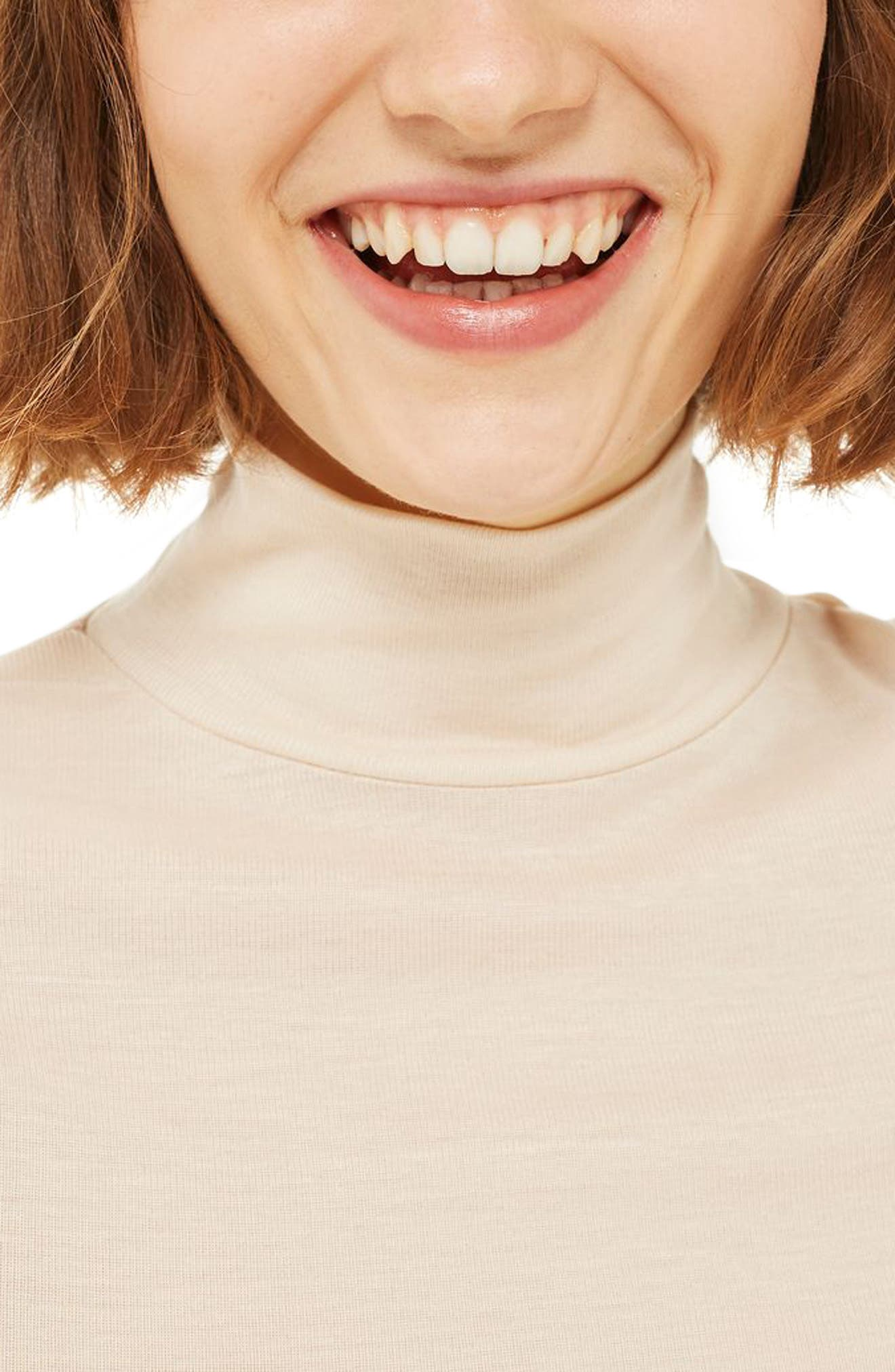 Ribbed Turtleneck Top,                             Alternate thumbnail 16, color,