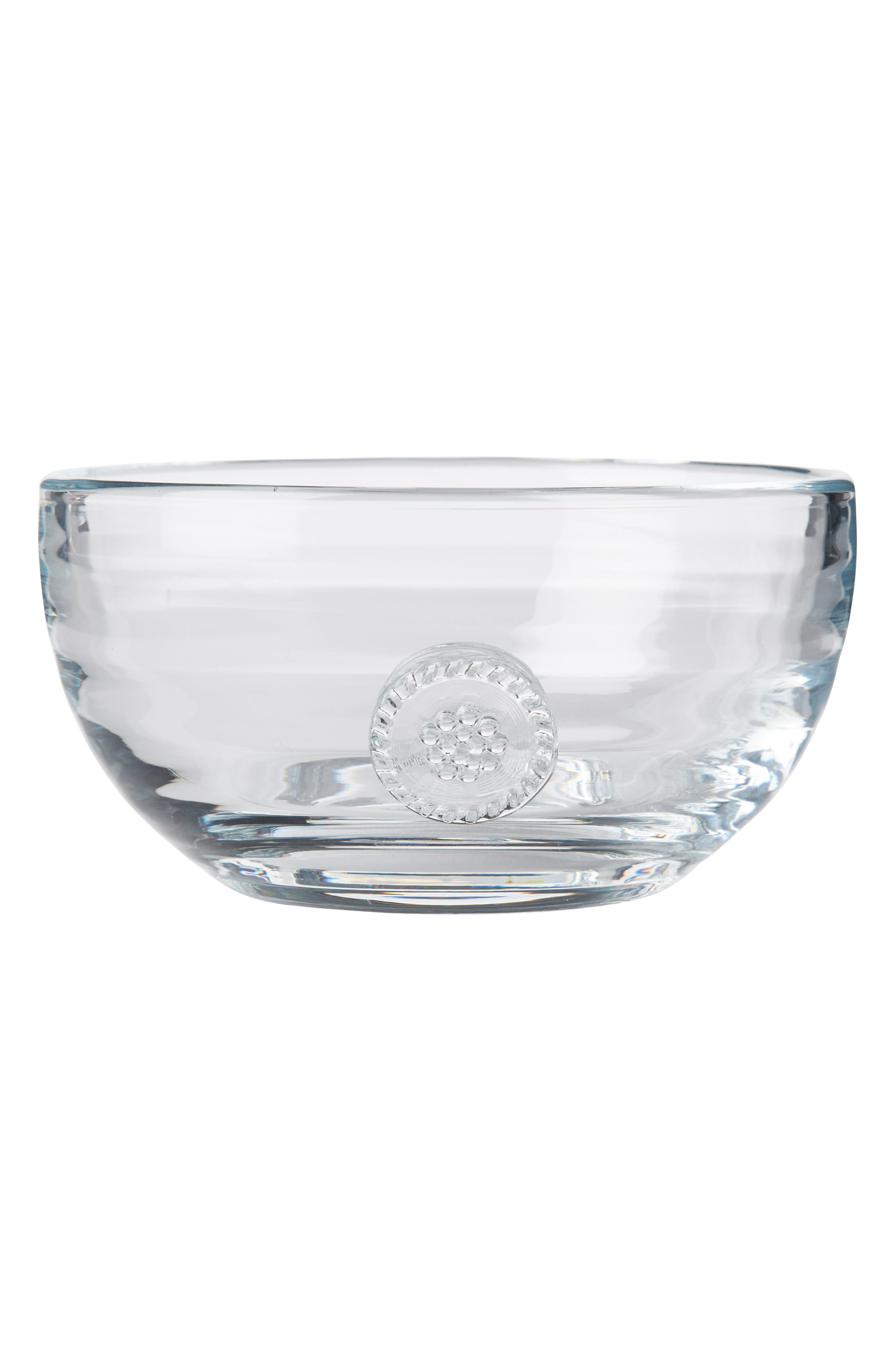 Berry & Thread Small Glass Bowl,                             Main thumbnail 1, color,                             CLEAR