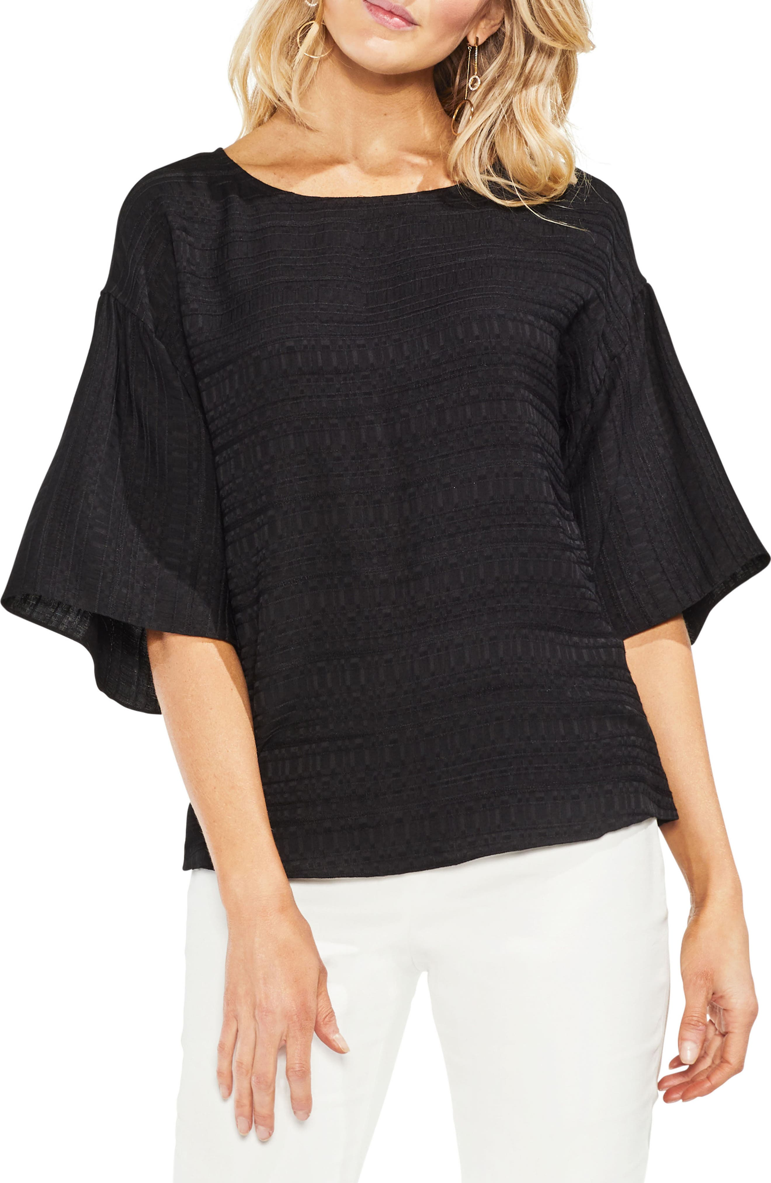 Textured Stripe Blouse,                         Main,                         color, 001