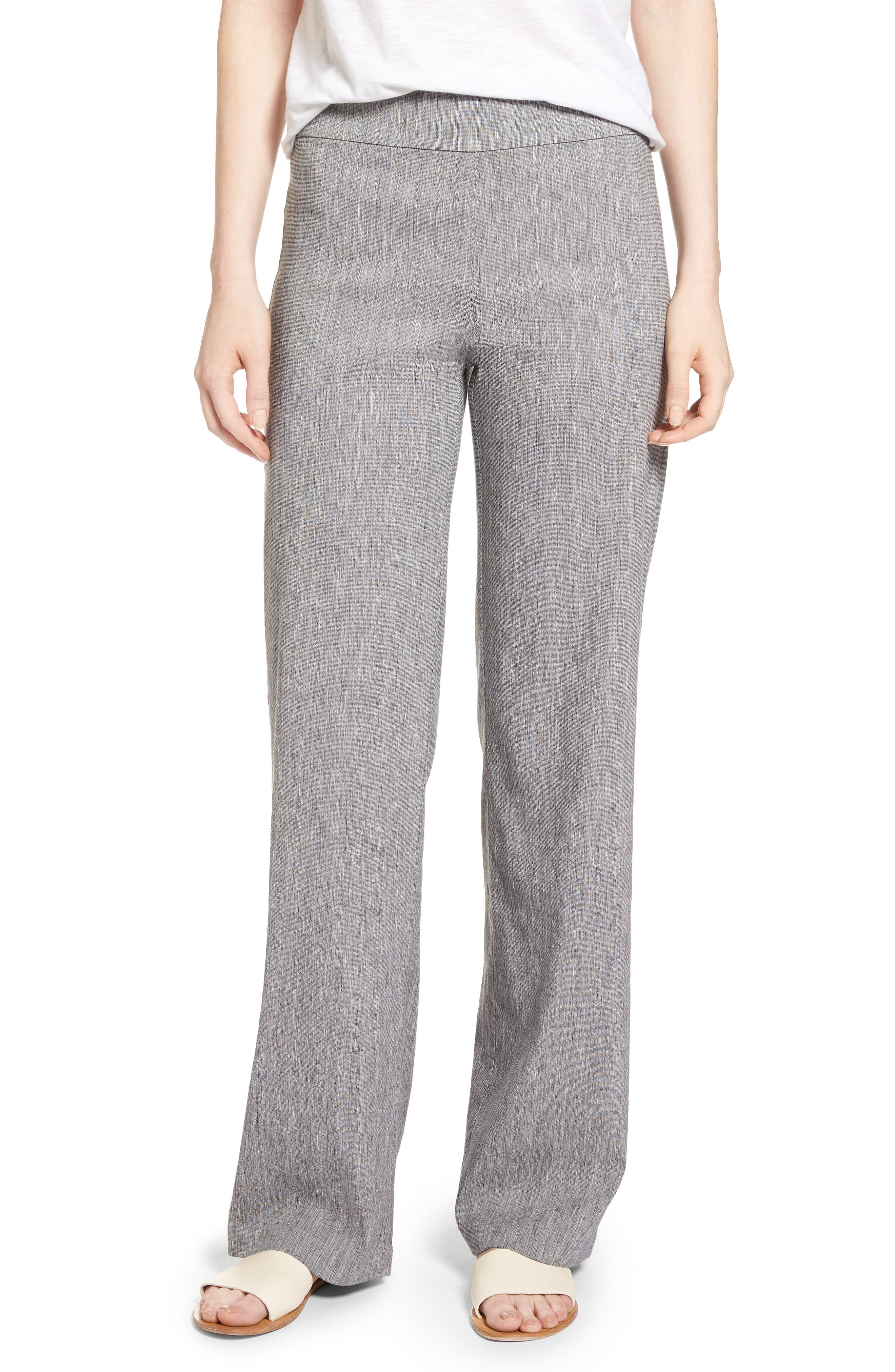 Here or There Linen Blend Pants,                             Main thumbnail 1, color,                             099