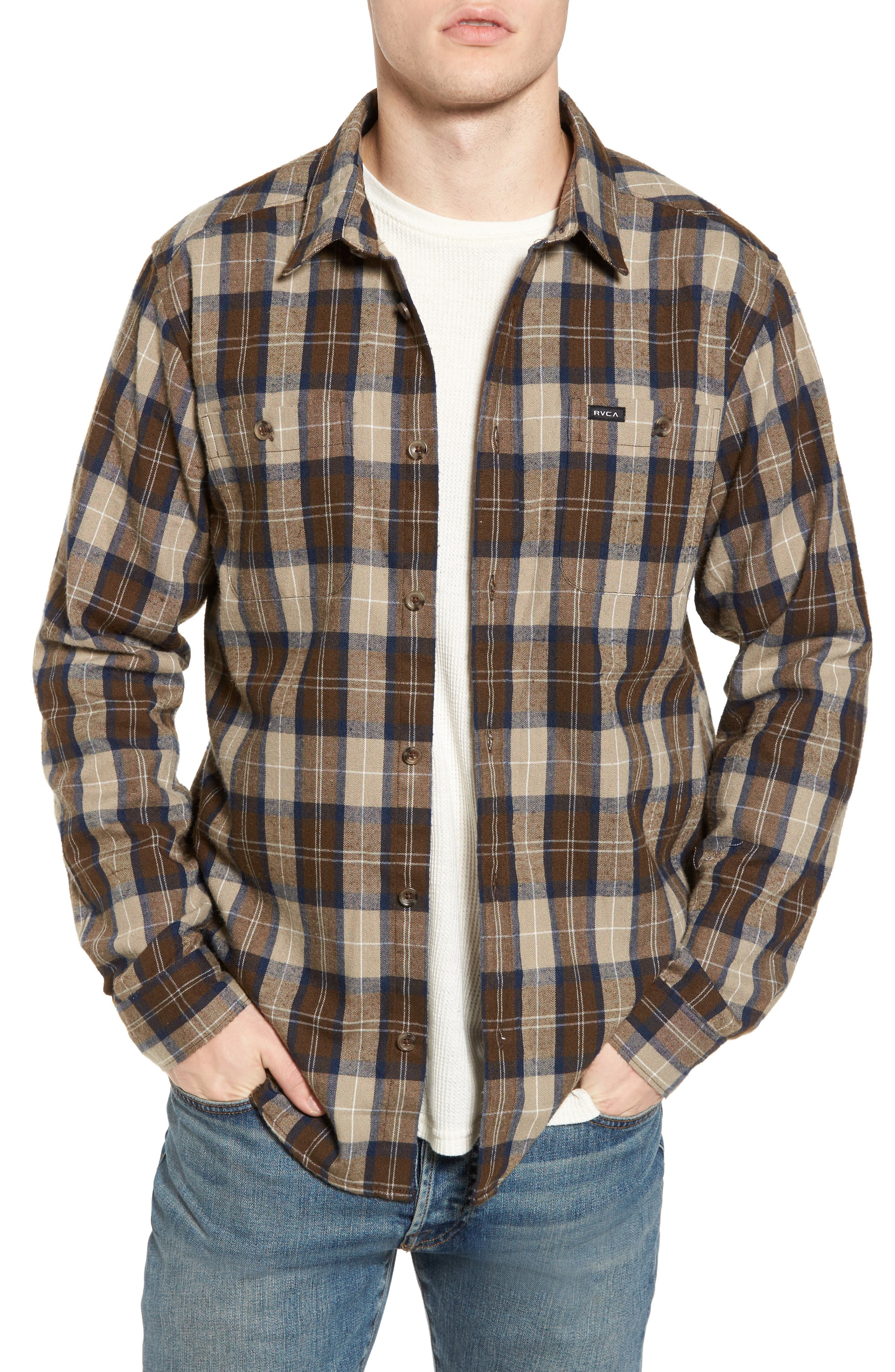 Bone Flannel Shirt,                             Main thumbnail 1, color,                             250