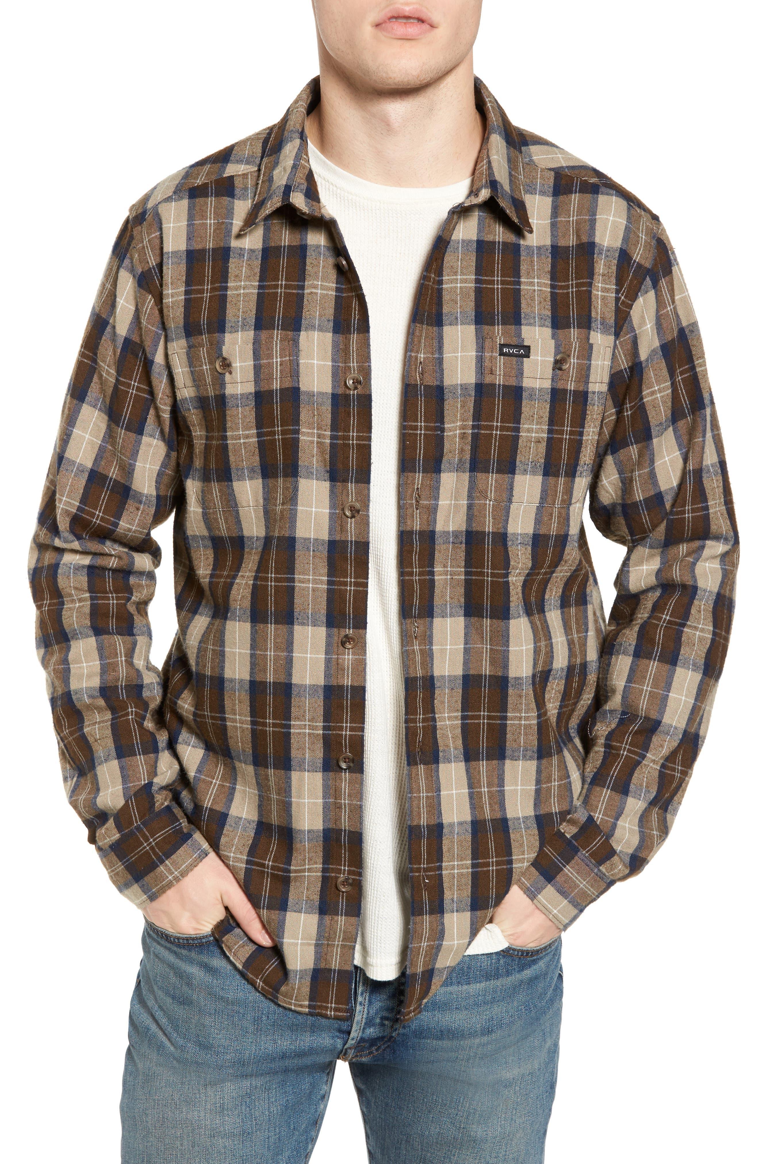 Bone Flannel Shirt,                         Main,                         color, 250