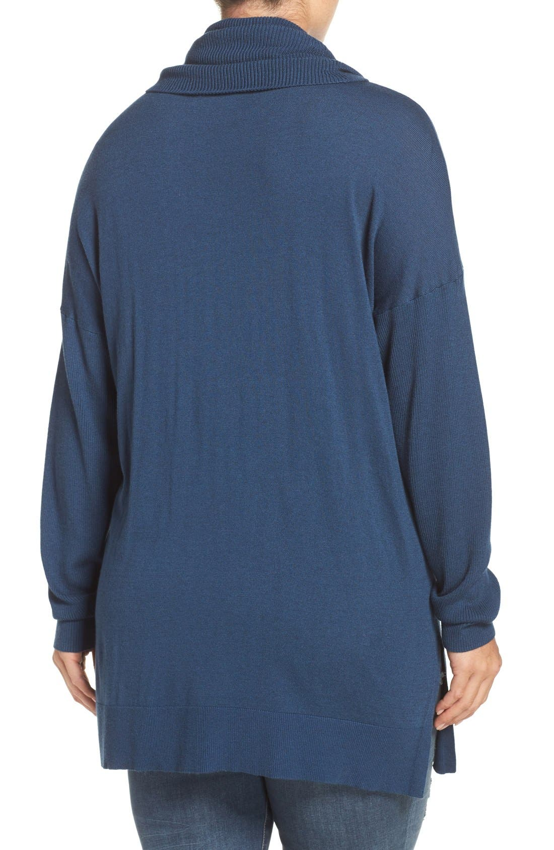 Cowl Neck Tunic Sweater,                             Alternate thumbnail 14, color,