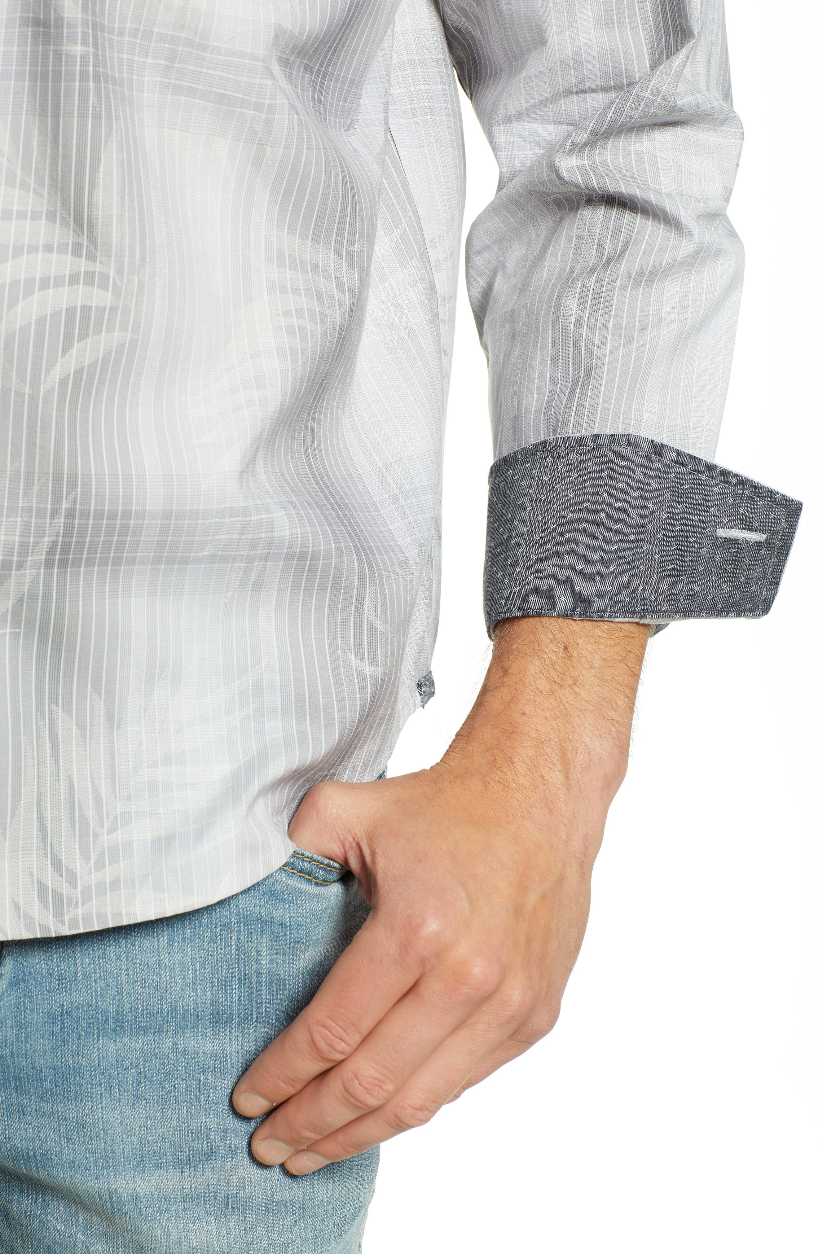 Primo Palms Classic Fit Plaid Sport Shirt,                             Alternate thumbnail 4, color,                             050